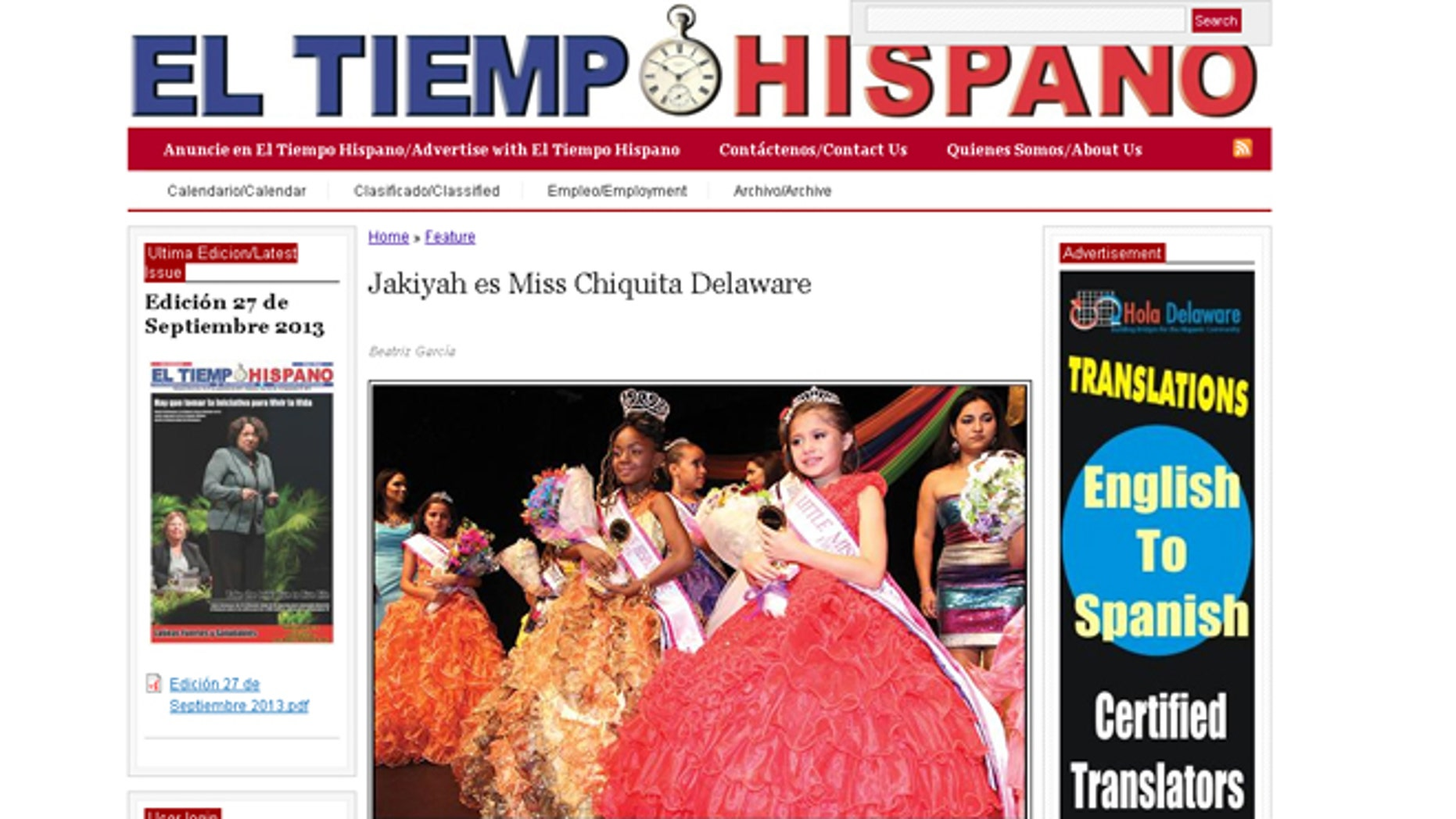 Beaming in a golden dress, sparkling crown and ear-to-ear smile, Jakiyah McKoy was crowned last month as Little Miss Hispanic Delaware. The 7-year-old, however, was only able to enjoy her title until last week, when pageant officials stripped the young beauty queen of her crown for not being able to prove her Latina heritage.