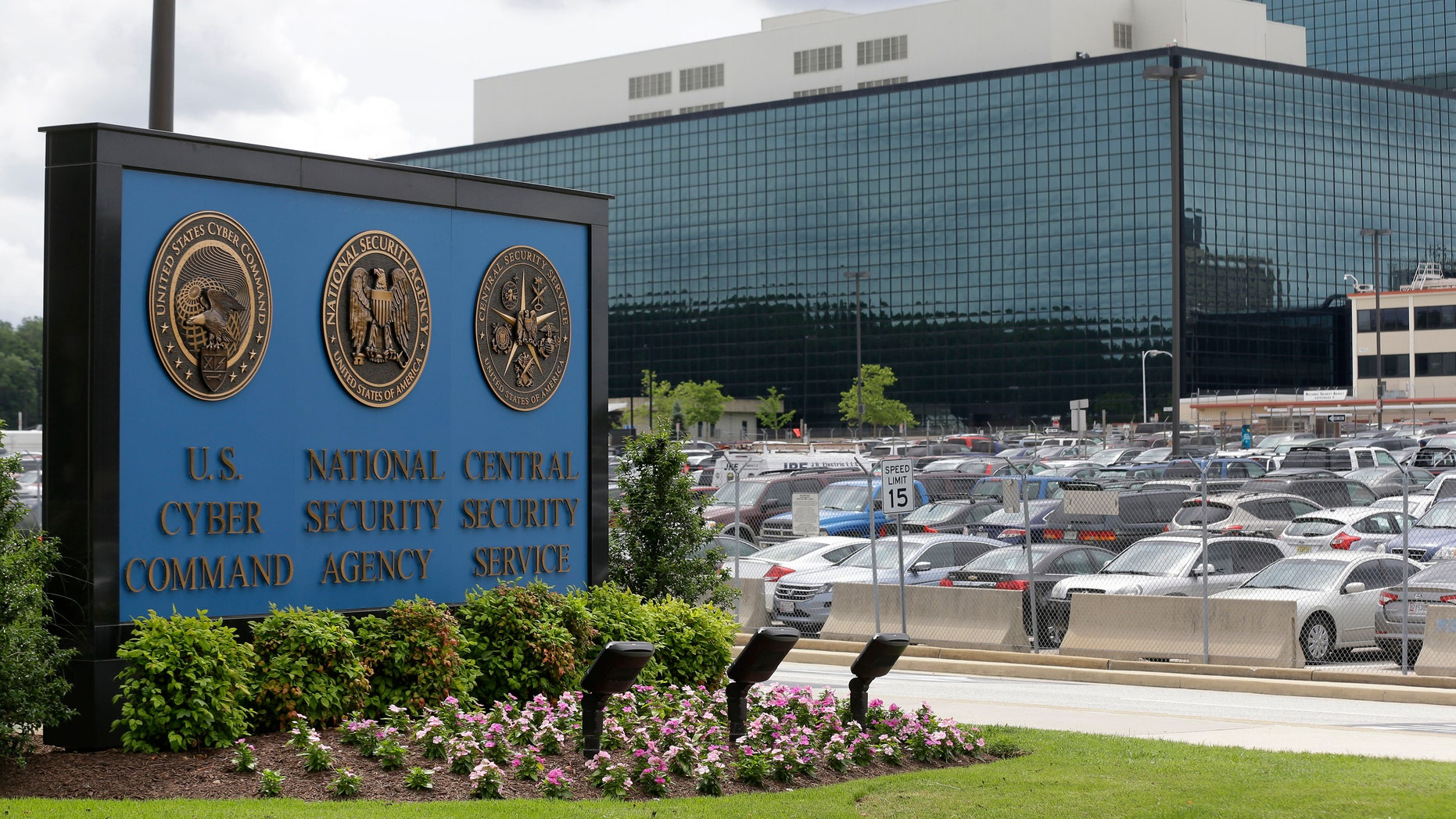 FILE - This June 6, 2013 file photo shows a sign outside the National Security Agency (NSA) campus in Fort Meade, Md.  A civil rights lawyer says the American Civil Liberties Union (ACLU) is very disappointed that a New York judge has found that a government program that collects millions of Americans' telephone records is legal. (AP Photo/Patrick Semansky, File)