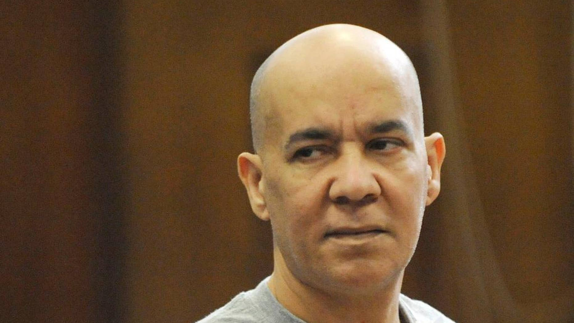 FILE - In this Nov. 15, 2012, file photo, Pedro Hernandez appears in Manhattan criminal court in New York. Jurors are scheduled to hear closing arguments Monday, April 13, 2015, in the case against the 54-year-old New Jersey man accused of killing 6-year-old Etan Patz on May 25, 1979 as the boy headed to school. (AP Photo/Louis Lanzano, Pool, File)