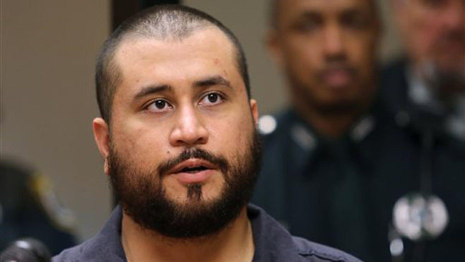 George Zimmerman in court Nov. 19,  2013, in Sanford, Florida.