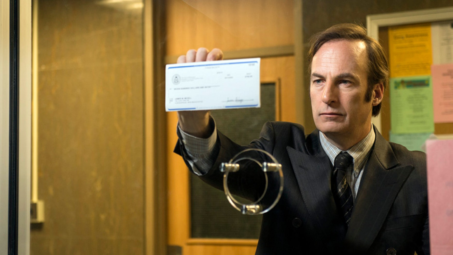 "Bob Odenkirk as Saul Goodman in the upcoming ""Breaking Bad"" spinoff ""Better Call Saul."""