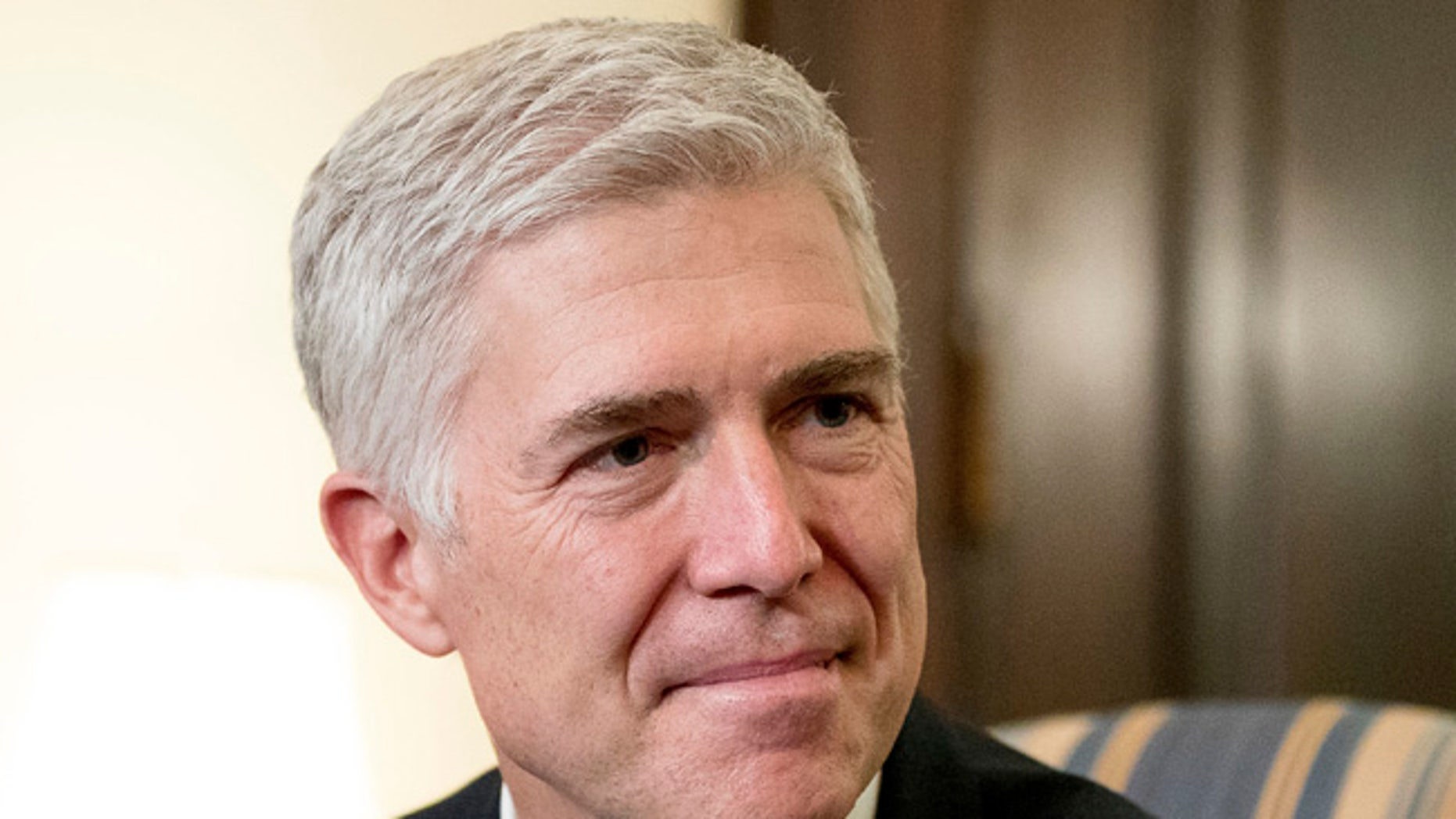 Supreme Court Justice nominee Neil Gorsuch meets with Sen. Chris Coons in Washington.