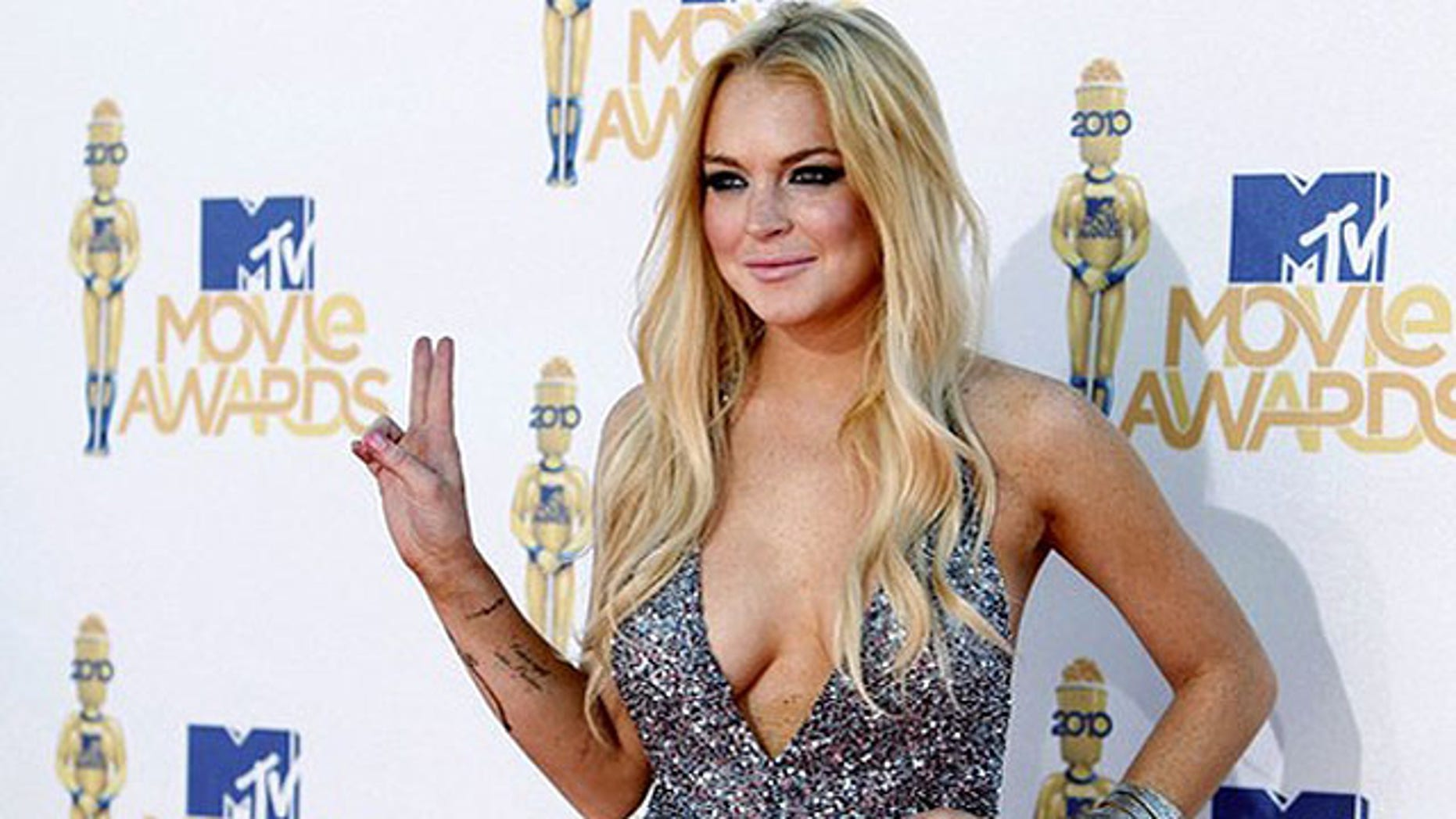 June 6: Lindsay Lohan arrives at the 2010 MTV Movie Awards.
