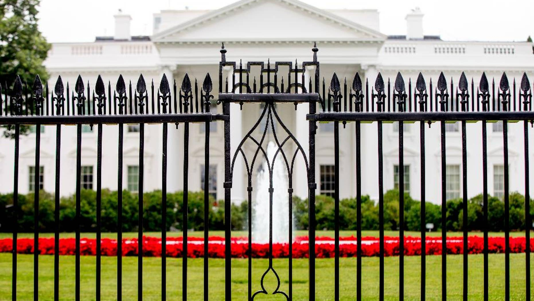 June 16, 2016: The White House is visible through the fence at the North Lawn in Washington.