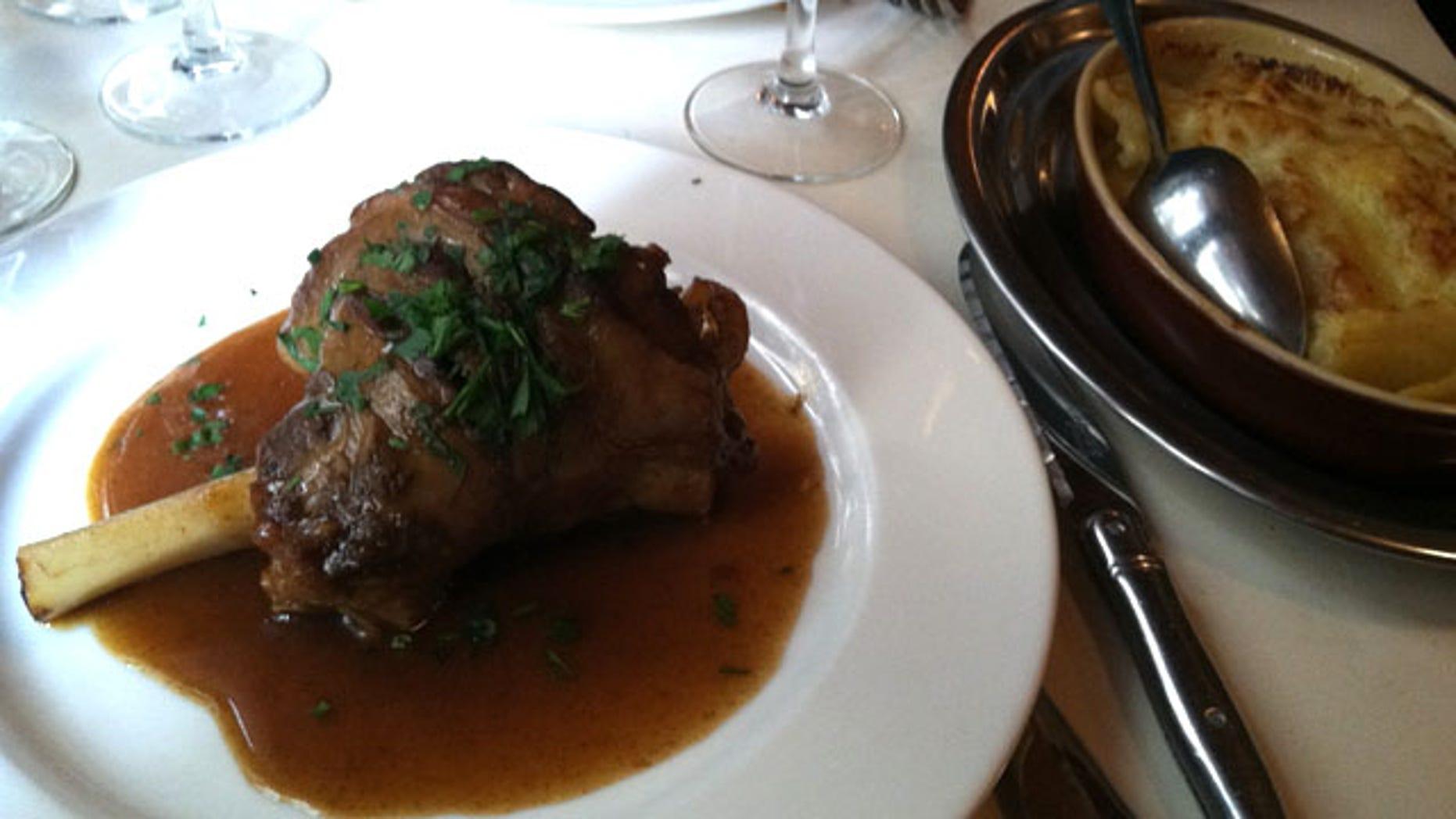 Leg of lamb at L'Epi d'Or in Paris.