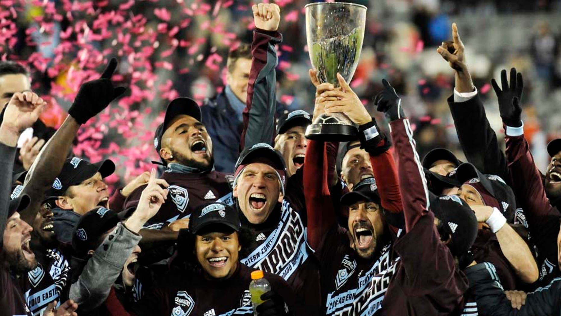 during the second half of an MLS Eastern Conference championship soccer game Saturday, Nov. 13, 2010, in Commerce City, Colo. Colorado beat San Jose 1-0 to advance to the MLS championship in Toronto. (AP PhotoJack Dempsey)