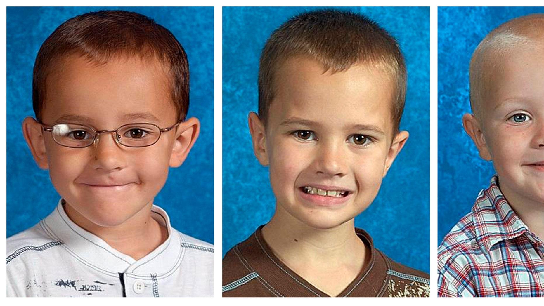 Alexander Skelton, 7 Andrew Skelton, 9, and Tanner Skelton. 5.