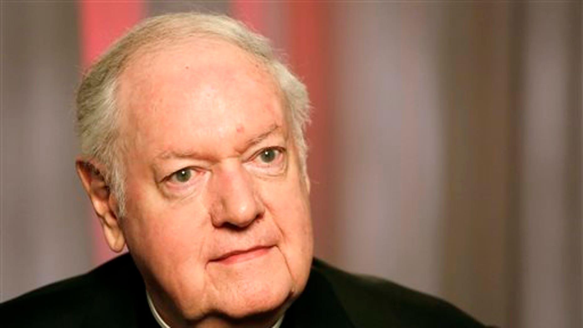 Edward Michael Egan, former archbishop of New York, in a Feb. 21, 2013 photo.