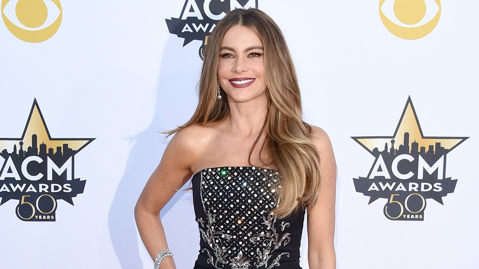 ARLINGTON, TX - APRIL 19:  Actress Sofia Vergara  attends the 50th Academy Of Country Music Awards at AT&T Stadium on April 19, 2015 in Arlington, Texas.  (Photo by Jason Merritt/Getty Images)