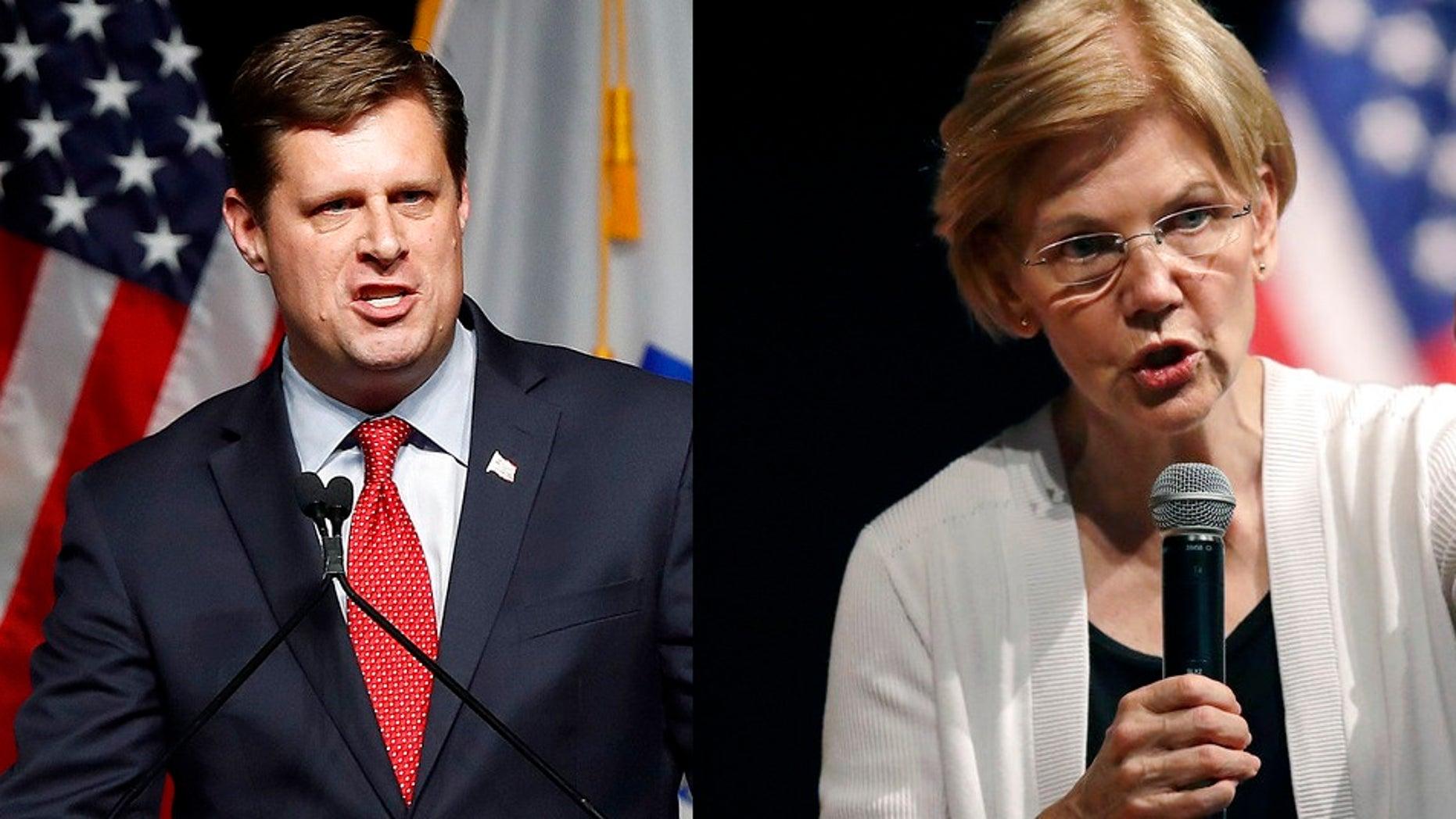 State Rep. Geoff Diehl won the primary to take on Sen. Elizabeth Warren in Massachusetts.