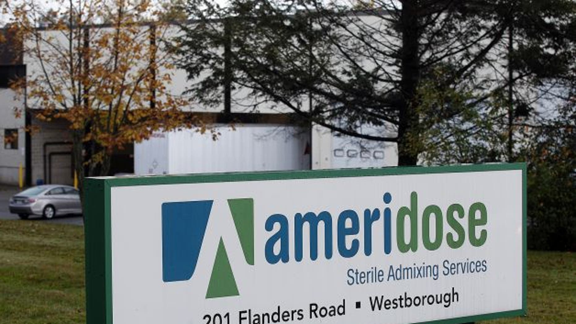 The exterior of Ameridose Sterile Admixing Services, a pharmacy connected to the New England Compounding Center linked to a deadly meningitis outbreak