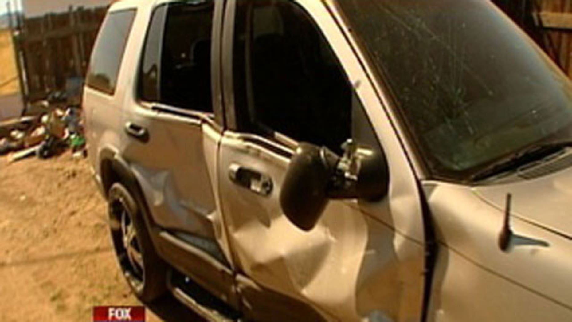 Damage from an Arizona boy's joy ride.