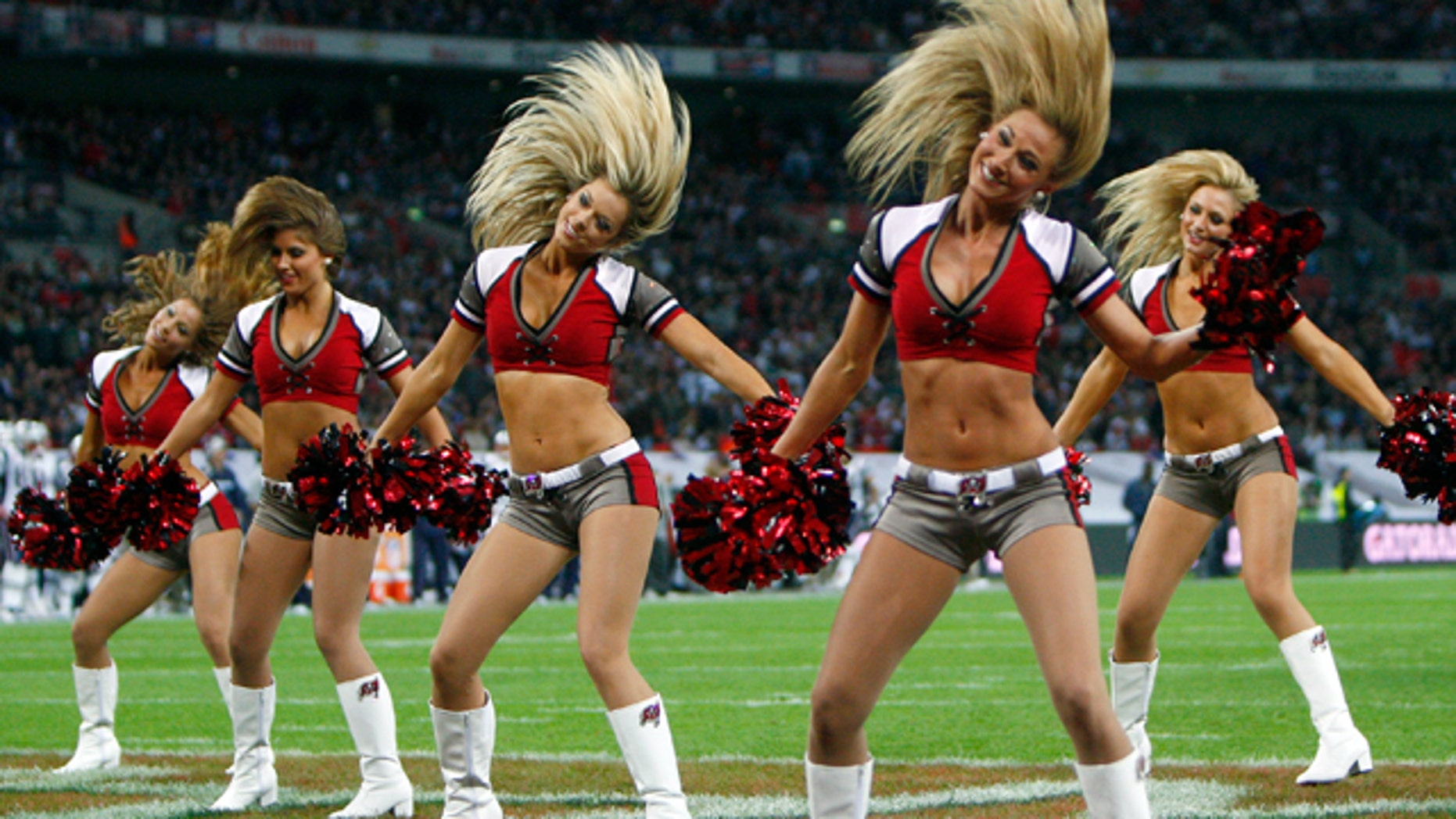 The Tampa Bay Buccaneers cheerleaders. (Reuters)