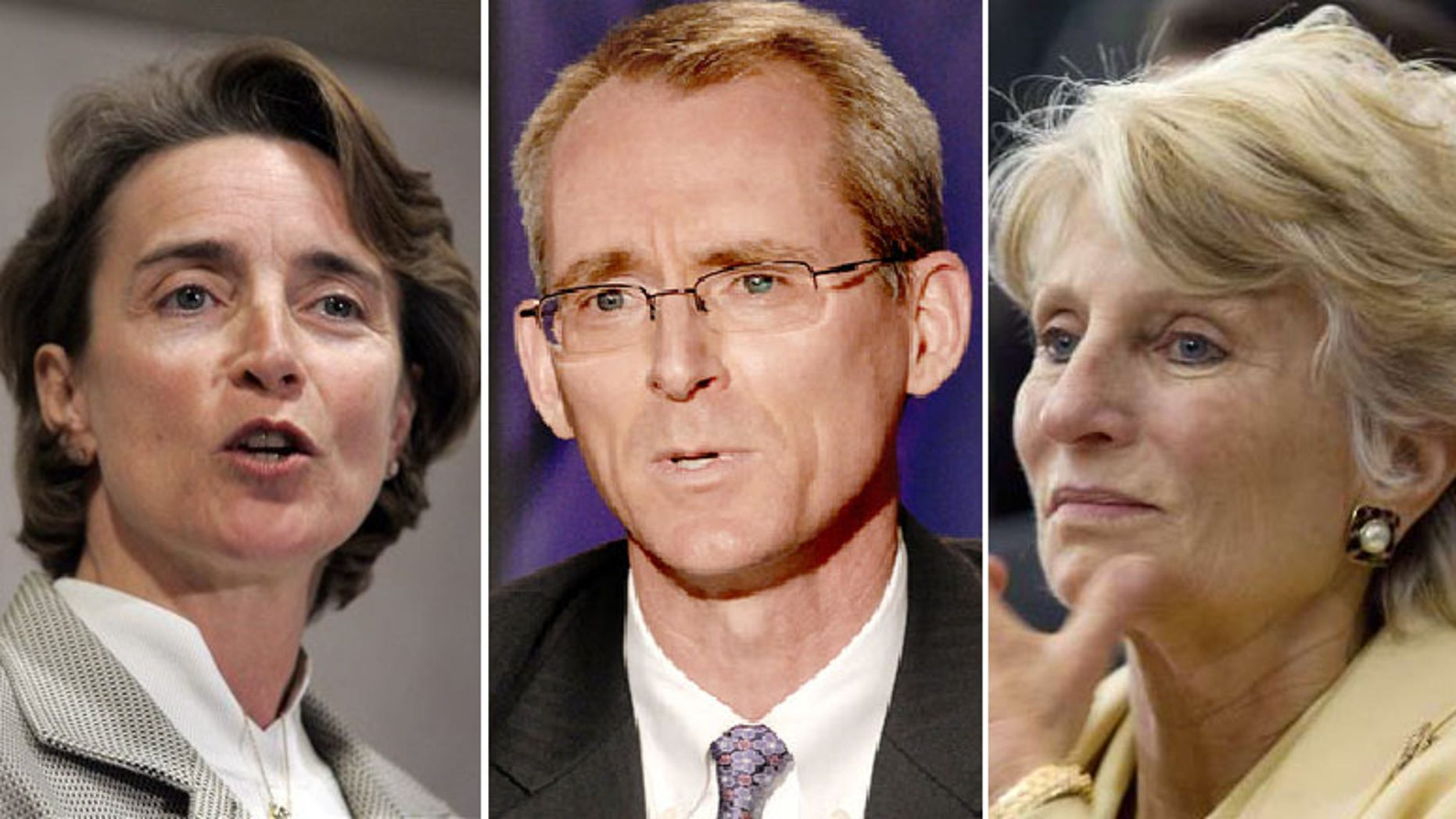 Sen. Blanche Lincoln, (l), Rep. Bob Inglis, (c), and Rep. Jane Harman, (r), are among the incumbents facing primary challengers June 8. (AP)