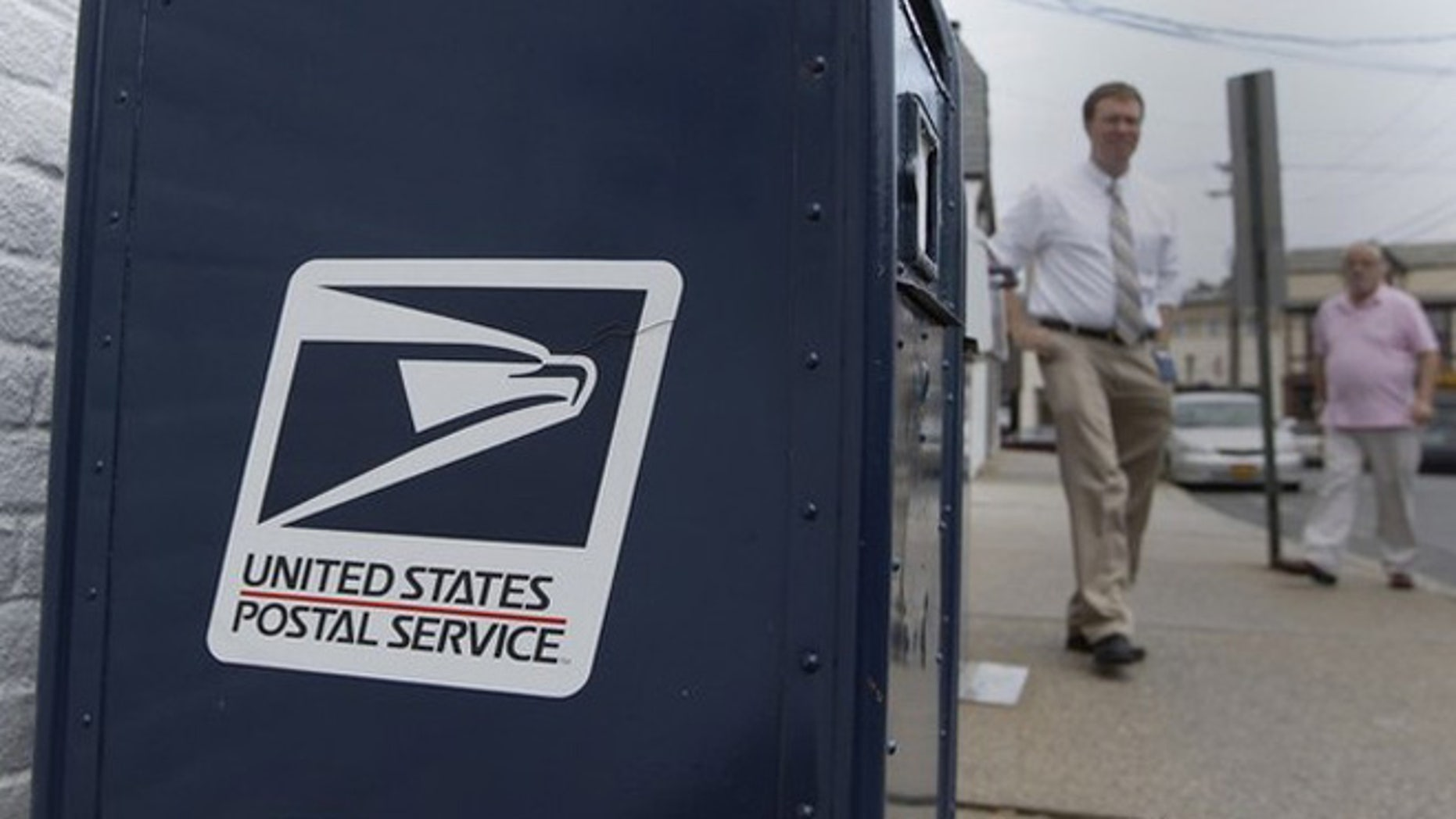 Aug. 1, 2012: A United Sates Postal Service mailbox is seen in Manhasset, N.Y.