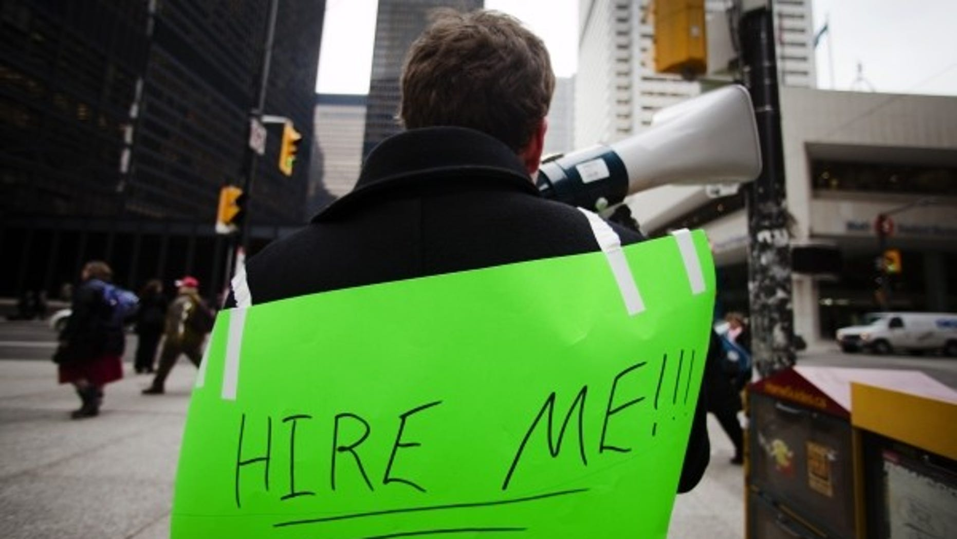 Unemployed person seeking a job