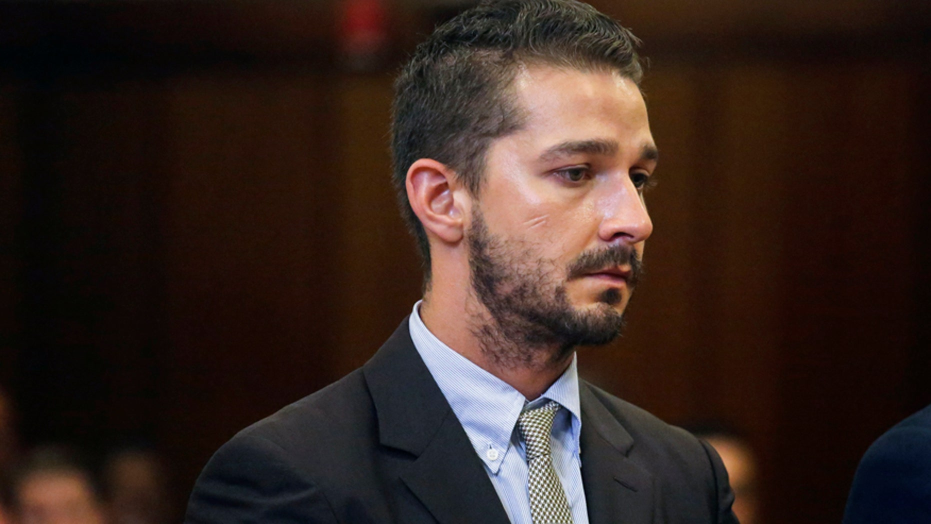 Actor Shia LaBeouf attends a hearing at the Manhattan Criminal Court in New York July 24, 2014.