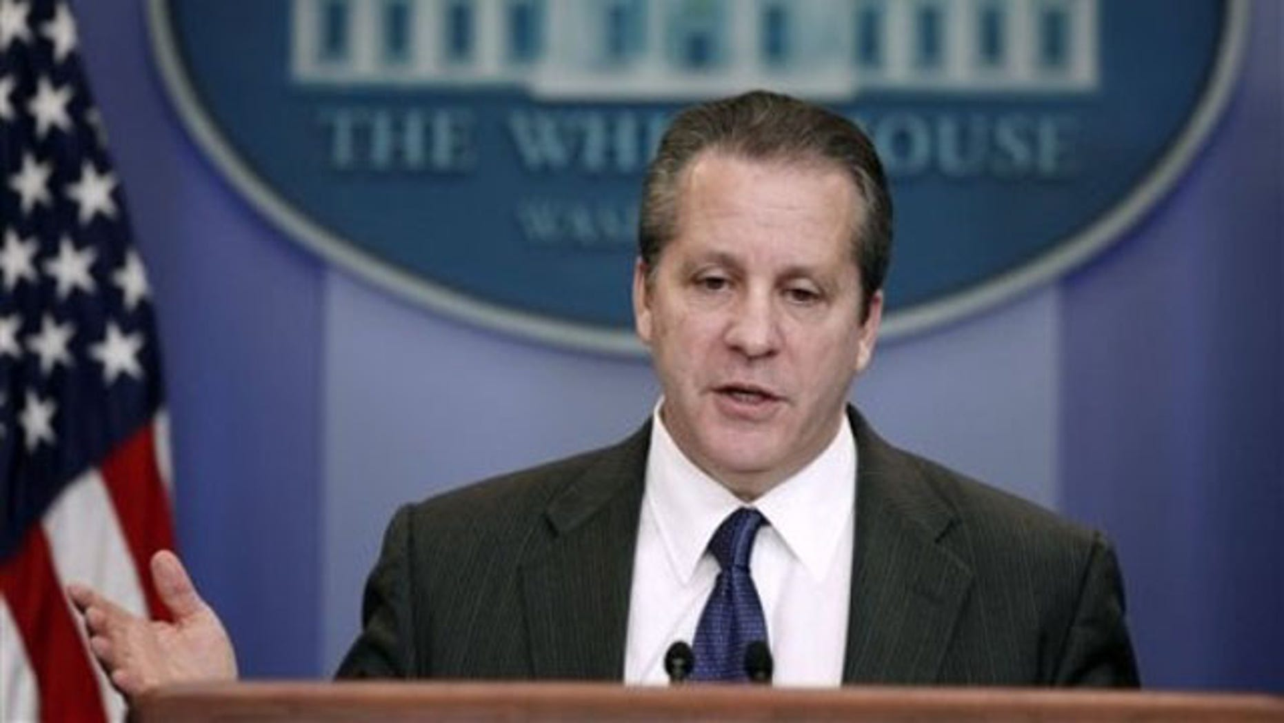 FILE: Feb. 4, 2013: Gene Sperling, director of the National Economic Council, speaks at the White House.