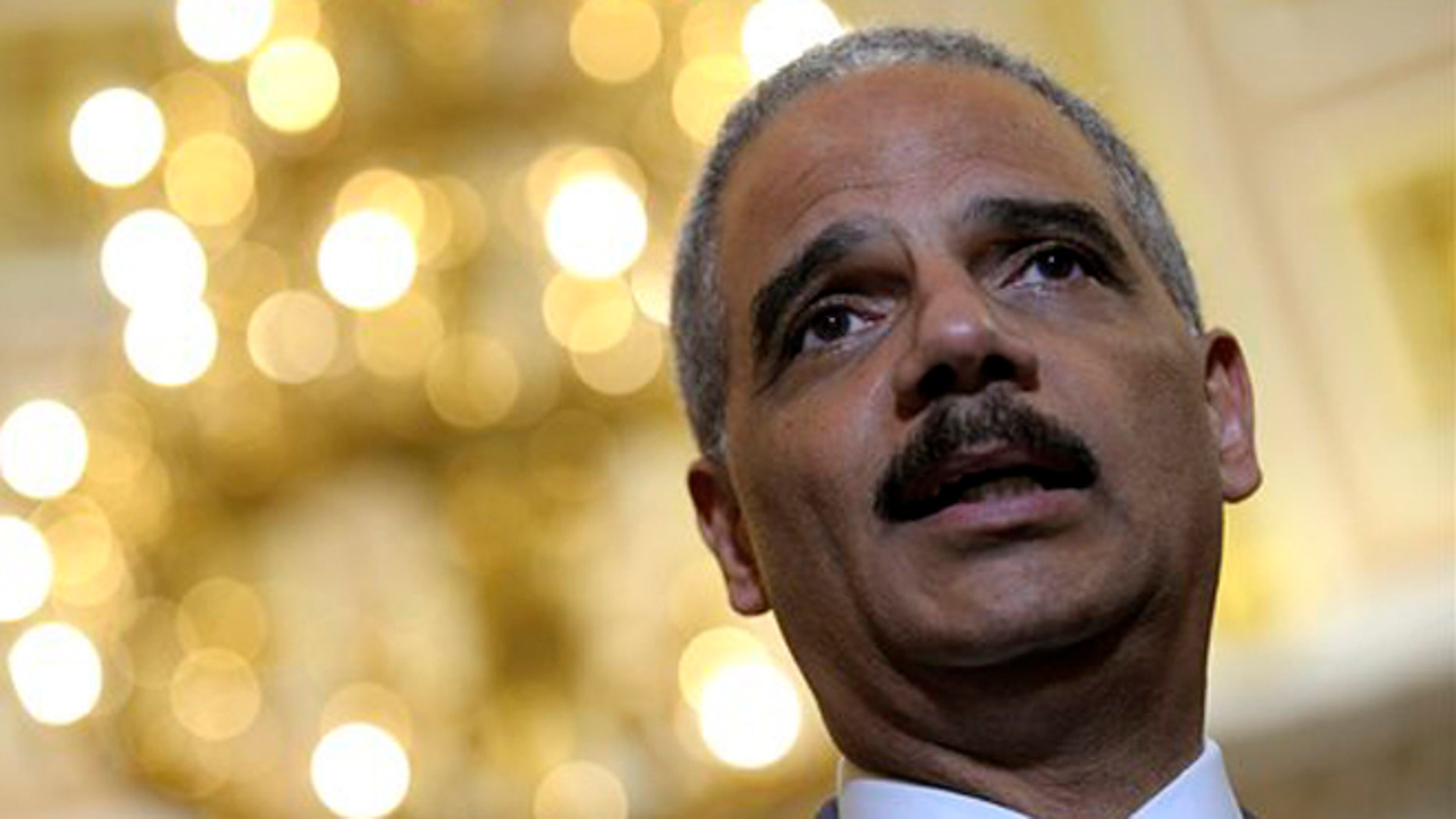 June 19, 2012: Attorney General Eric Holder on Capitol Hill in Washington.