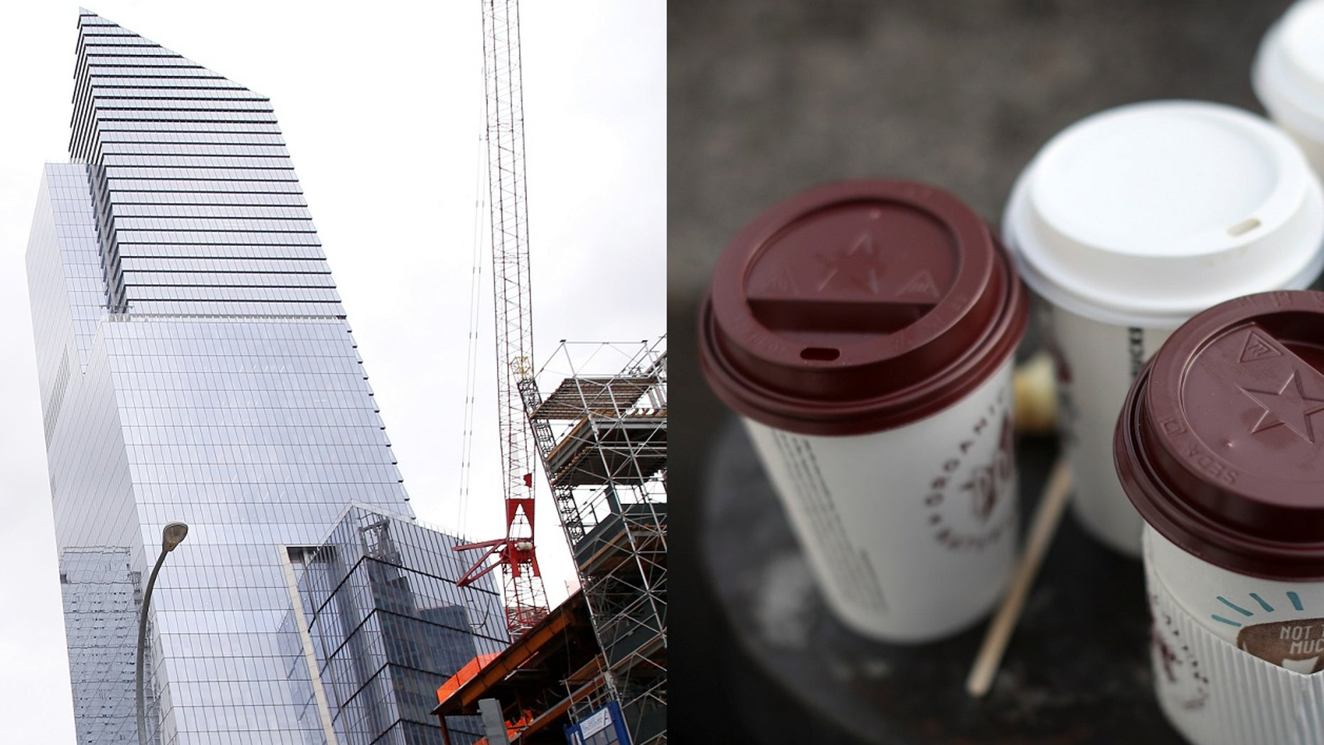 A lawsuit filed Monday by Hudson Yards Construction LLC alleged that union workers were paid more than $40 an hour to deliver coffee.