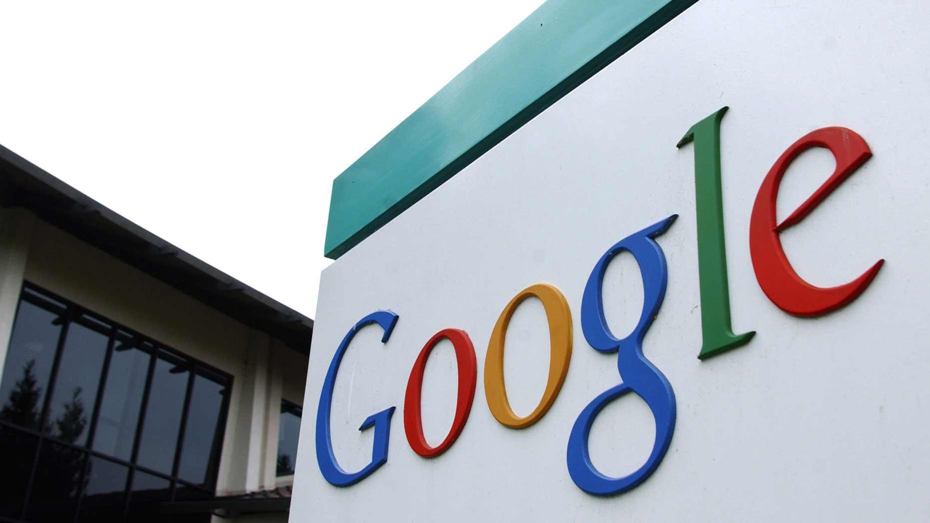 File photo: The logo of Google Inc. is seen outside their headquarters building in Mountain View, California August 18, 2004.  (REUTERS/Clay McLachlan)