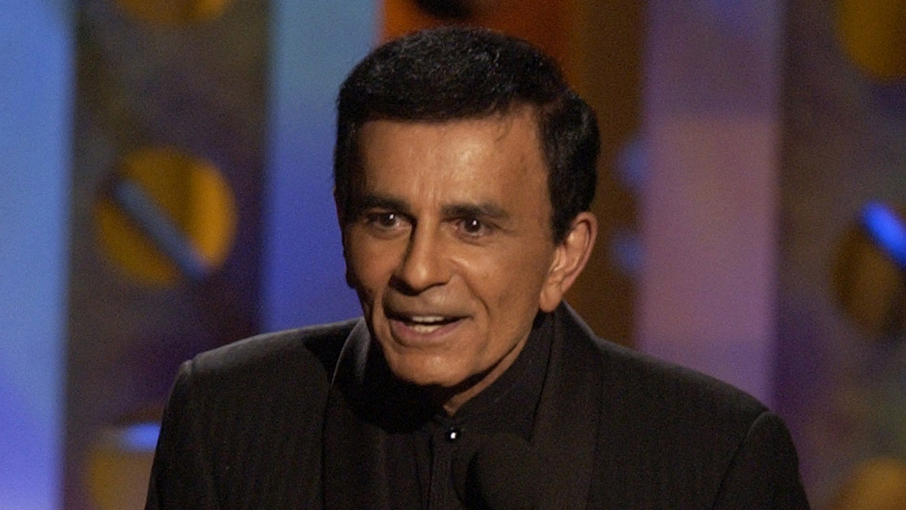 October 27, 2003. Casey Kasem accepts a radio icon award  during the Radio Music Award at the Aladdin Hotel in Las Vegas