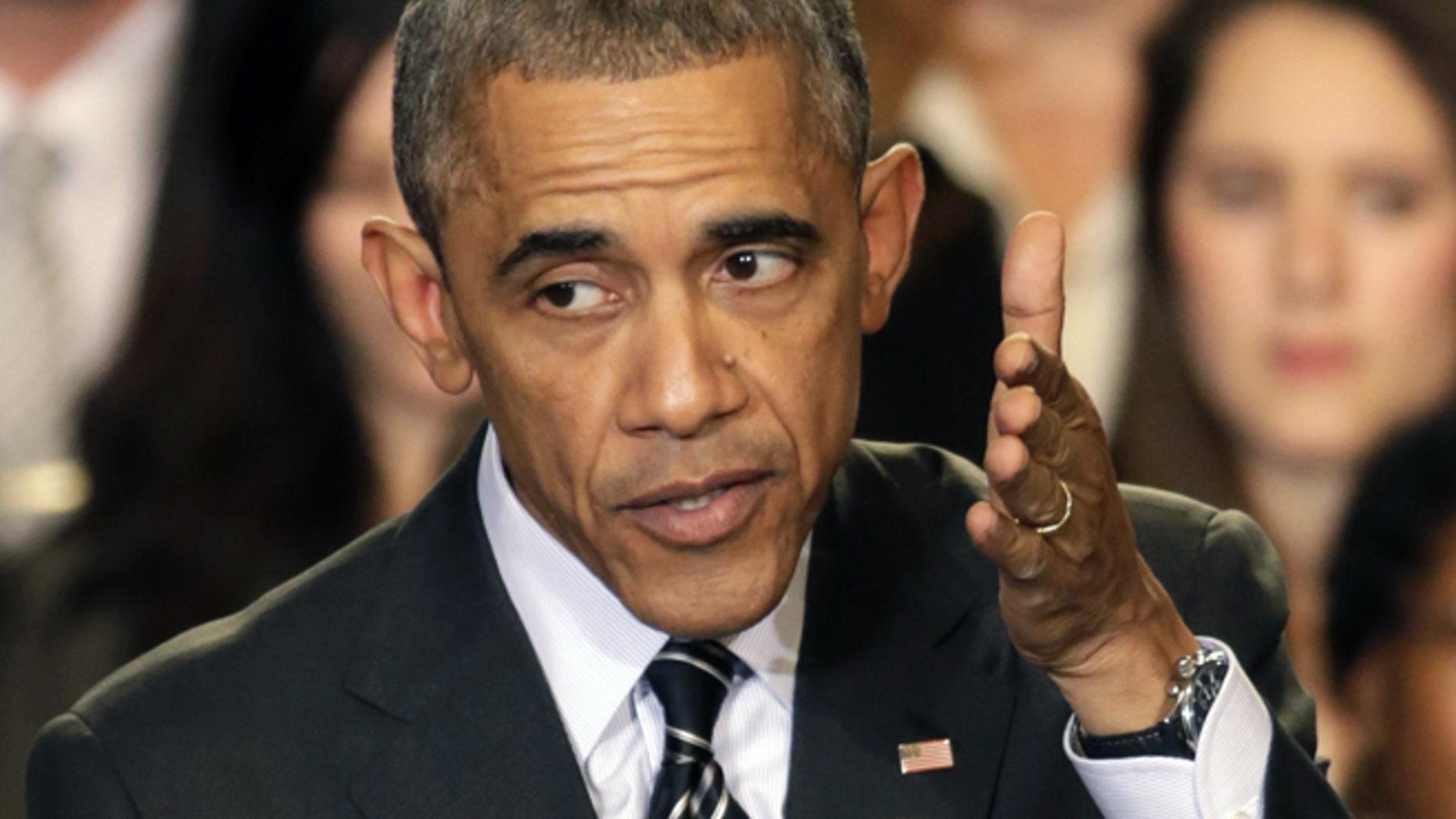 President Obama speaks in Chicago.