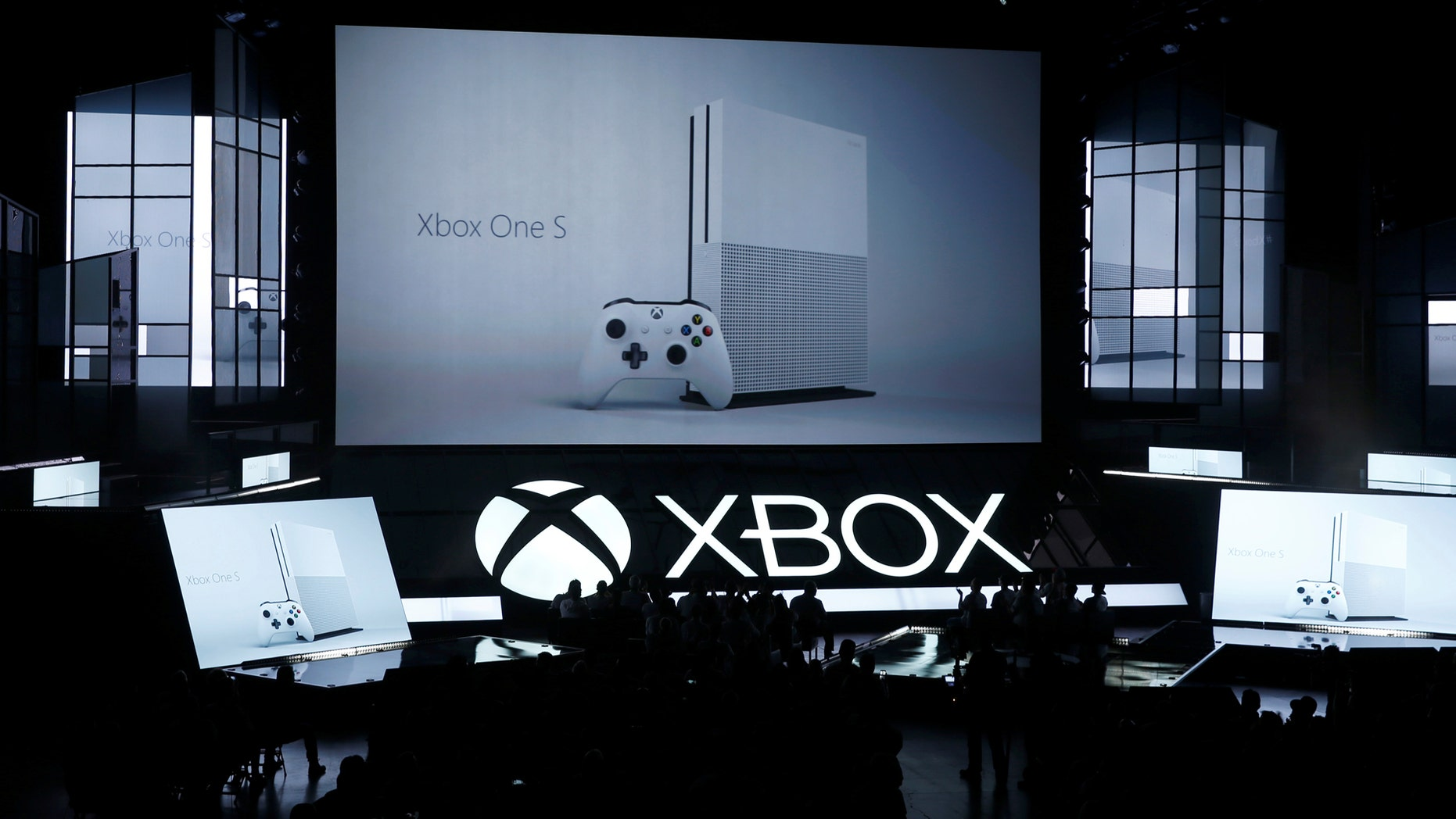 File photo: Microsoft displays its Xbox One S console at the Xbox E3 2016 media briefing in Los Angeles, California, U.S., June 13, 2016. (REUTERS/Lucy Nicholson)