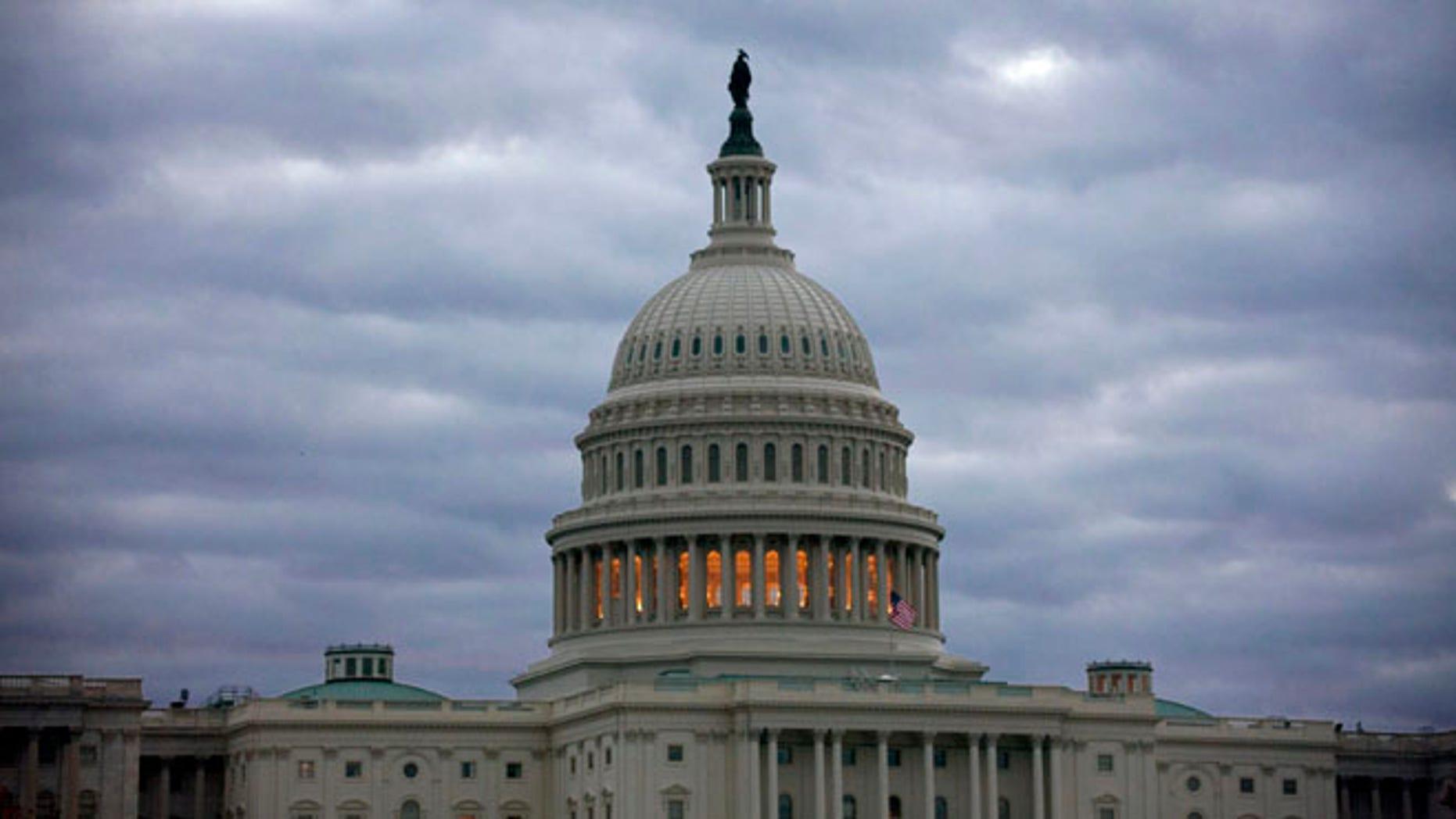 Nov. 21, 2013, file photo, the Capitol in Washington, after sunrise.