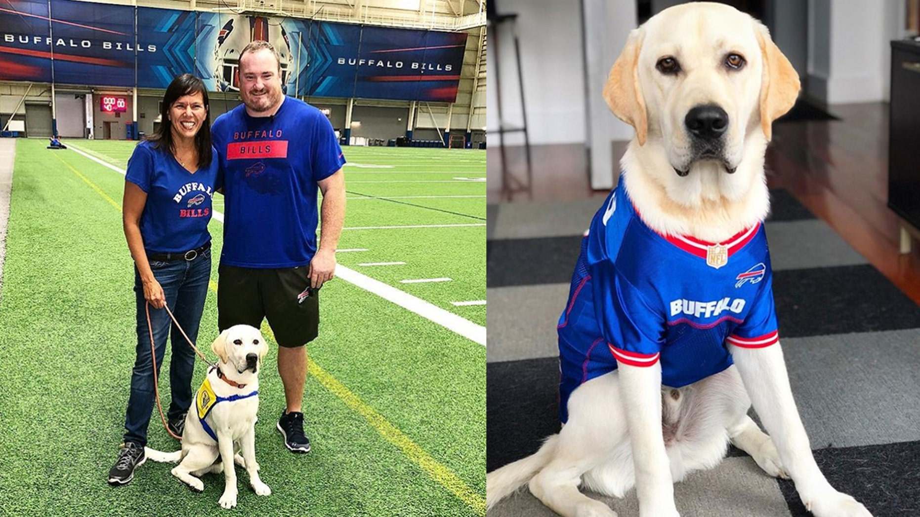 """The mascot of the """"The Daily Briefing"""" went on an extra special trip to meet the Buffalo Bills."""