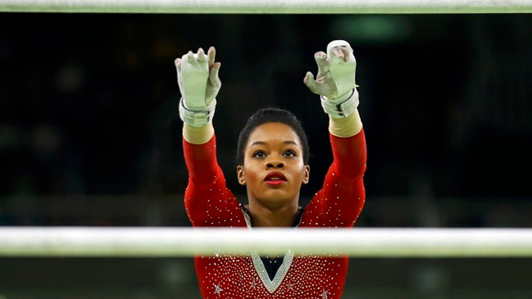 "Olympic gymnast Gabby Douglas sparred with her fellow ""Fierce Five"" teammates last week."