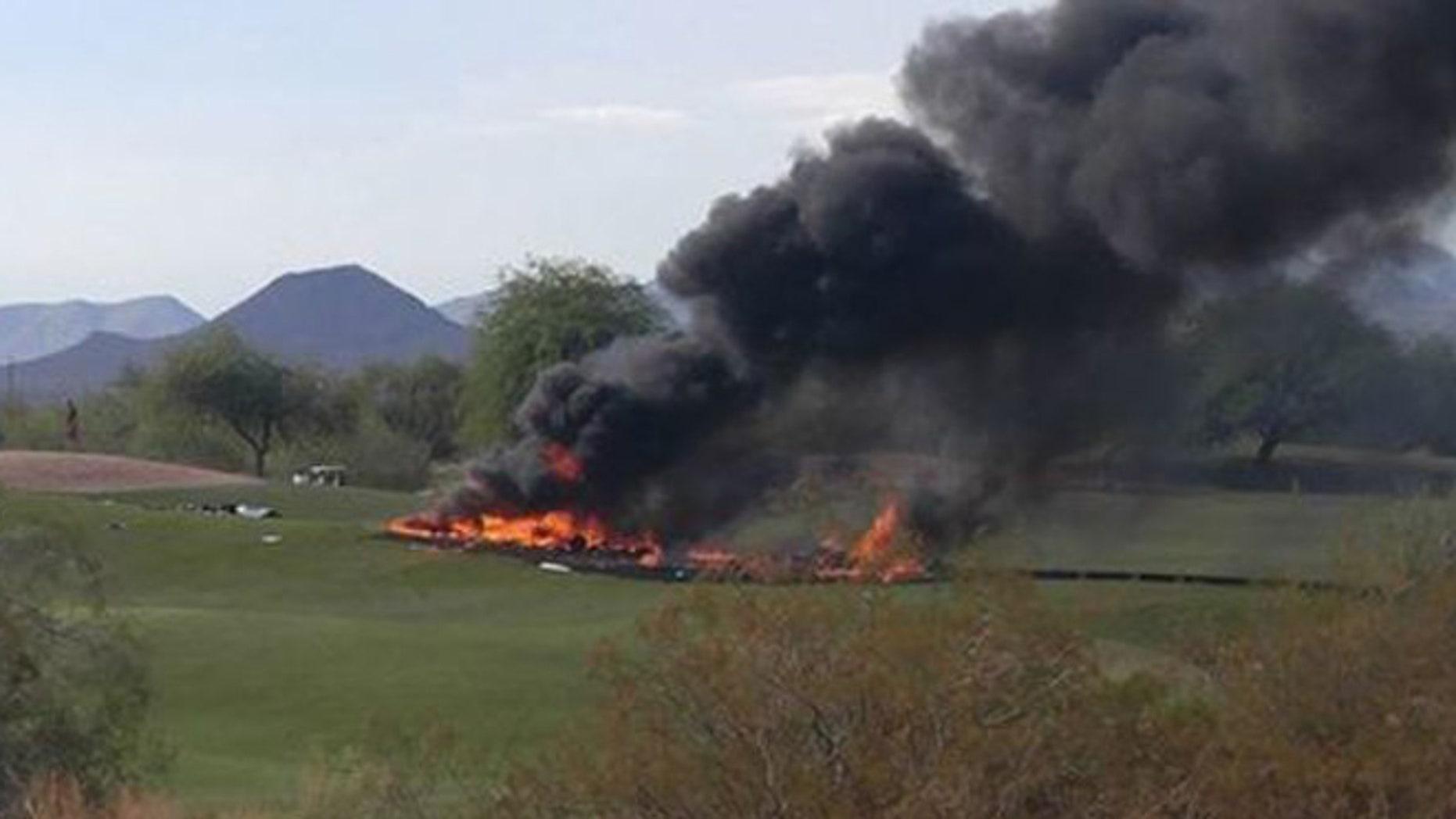 Two people were killed in a plane crash in Mesa, Arizona Monday.