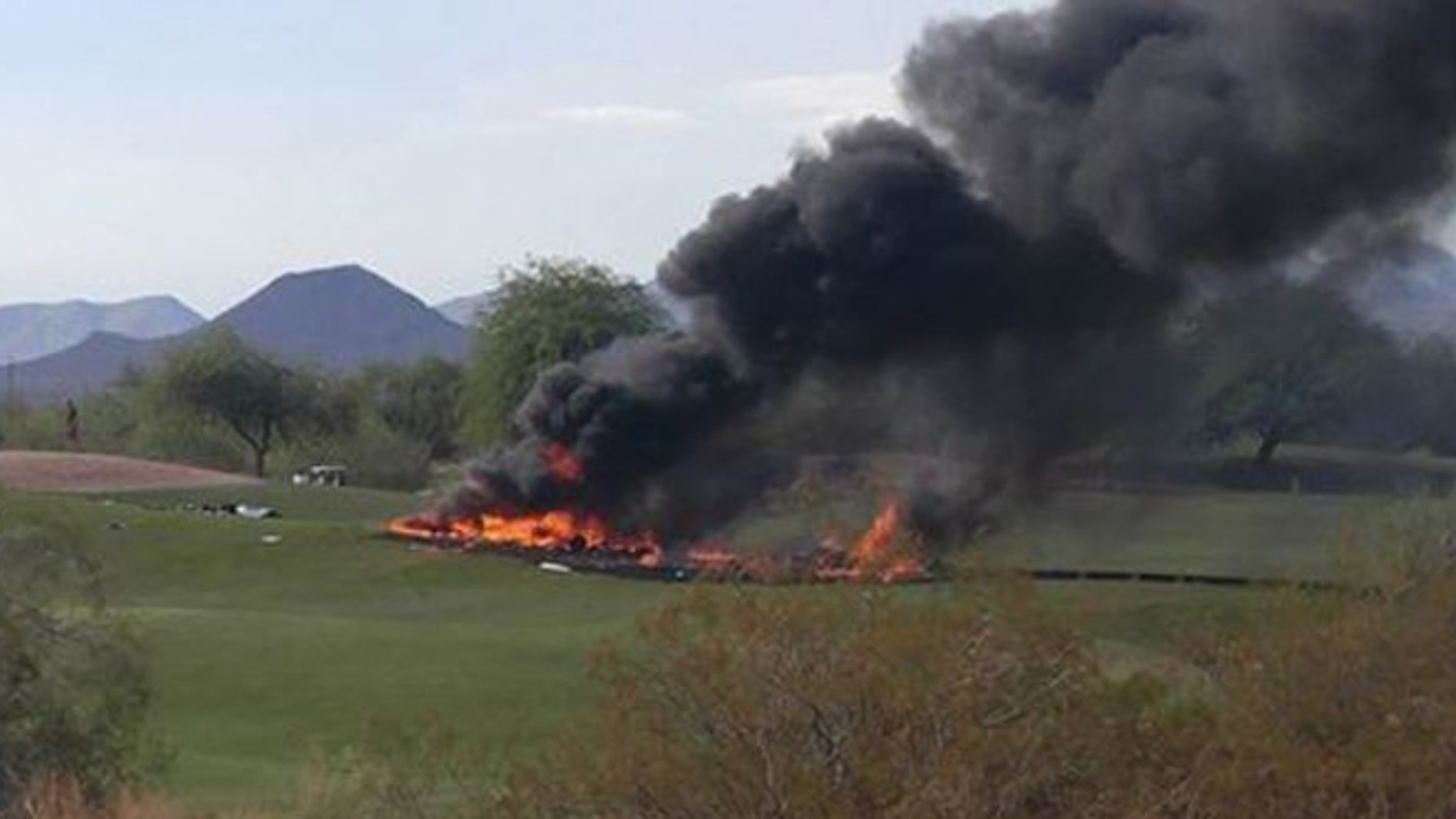 Two people were killed in a plane crash in Mesa, Arizona Monday.