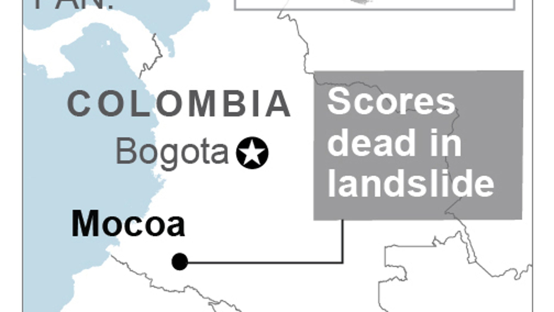 A grim search for the missing resumes at dawn in southern Colombia.
