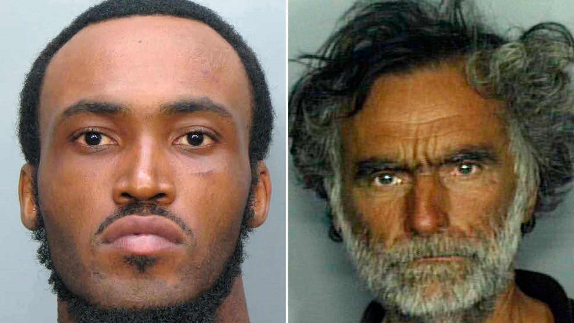 Miami-Dade police shot and killed Rudy Eugene, 31, left, as he ate the face of Ronald Poppo, 65, on May 26, 2012.