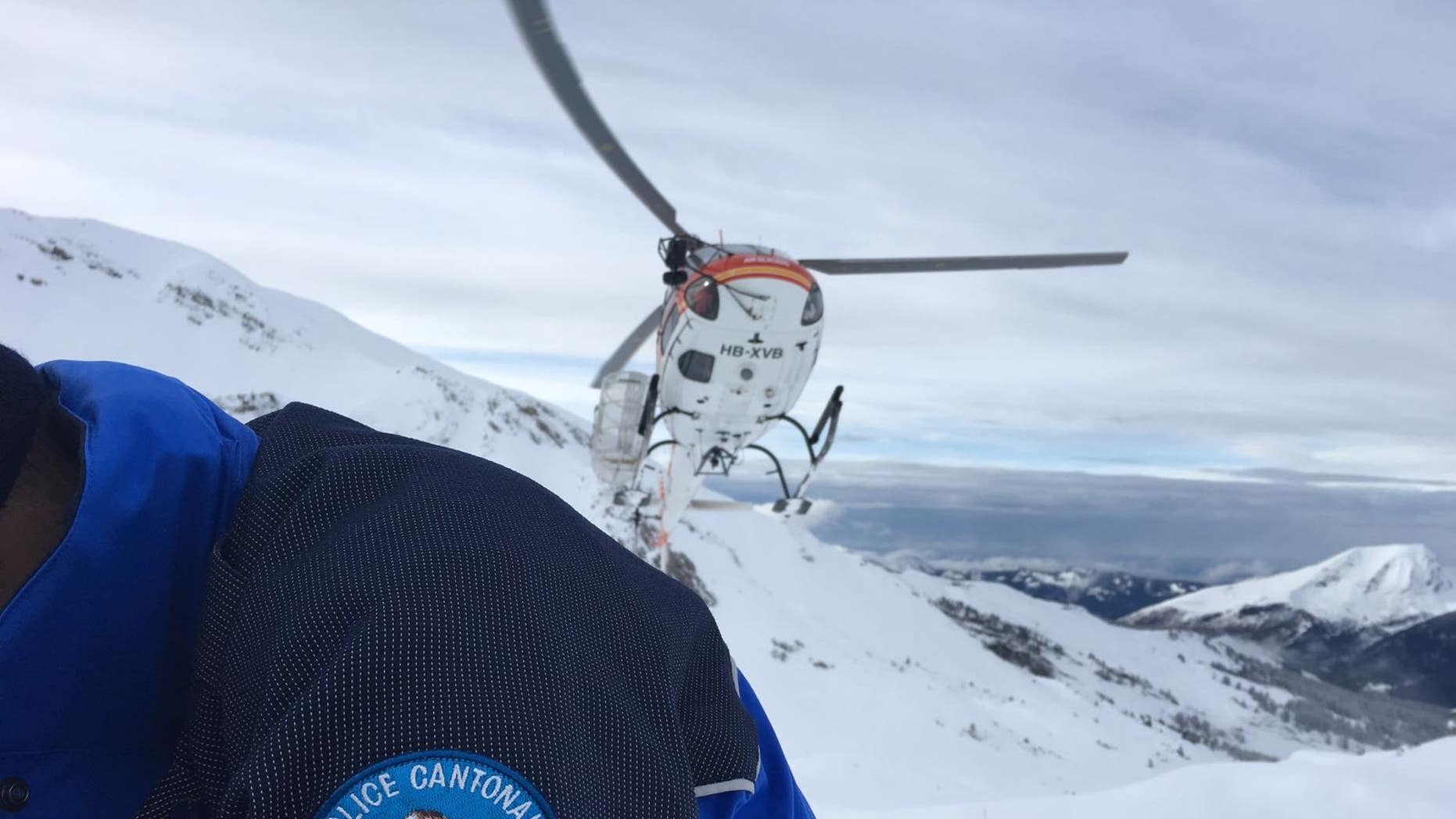Hikers were reported missing after they were swept away by an avalanche in Switzerland.