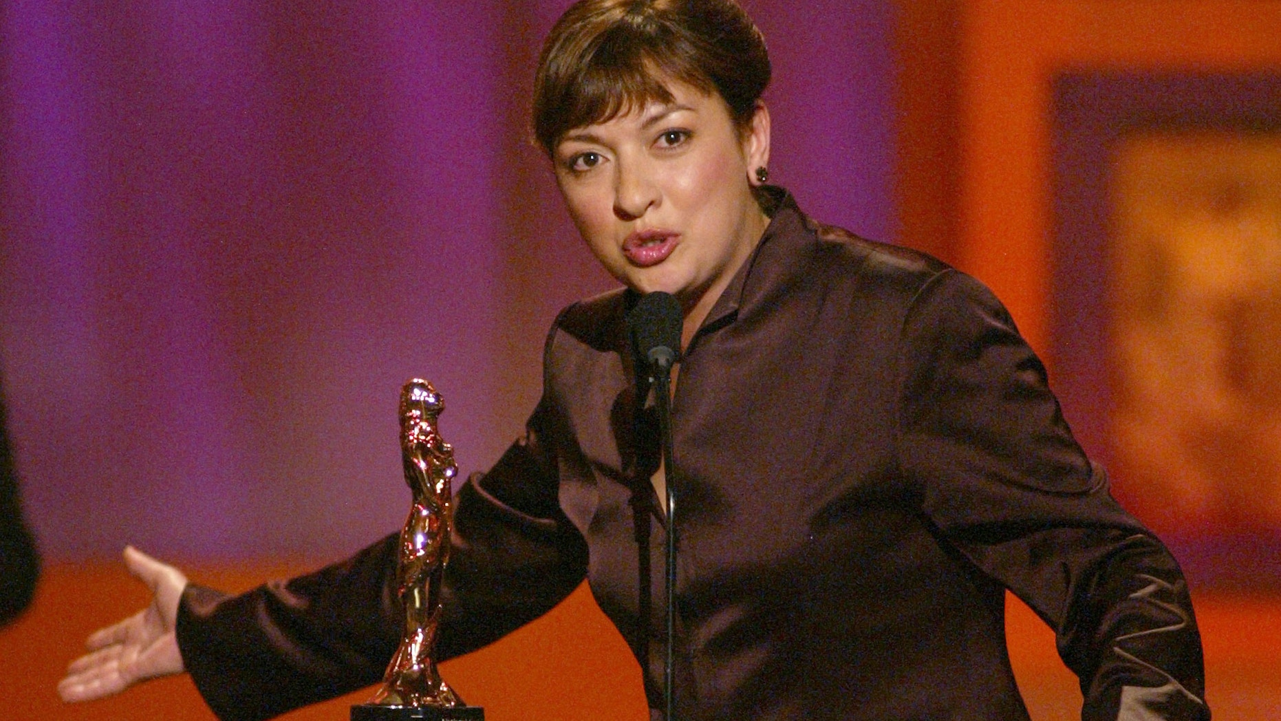 """Elizabeth Pena at """"The 2002 ALMA Awards"""" at the Shrine Auditorium in Los Angeles, Ca. Saturday, May 18, 2002. Photo by Kevin Winter/ABC/ImageDirect."""