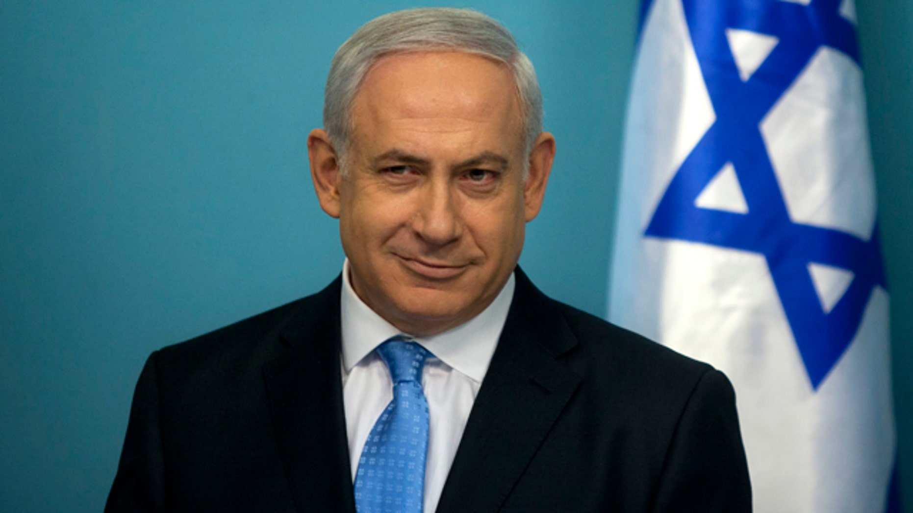May 18: Israeli Prime Minister Benjamin Netanyahu during a press conference in his office in Jerusalem.