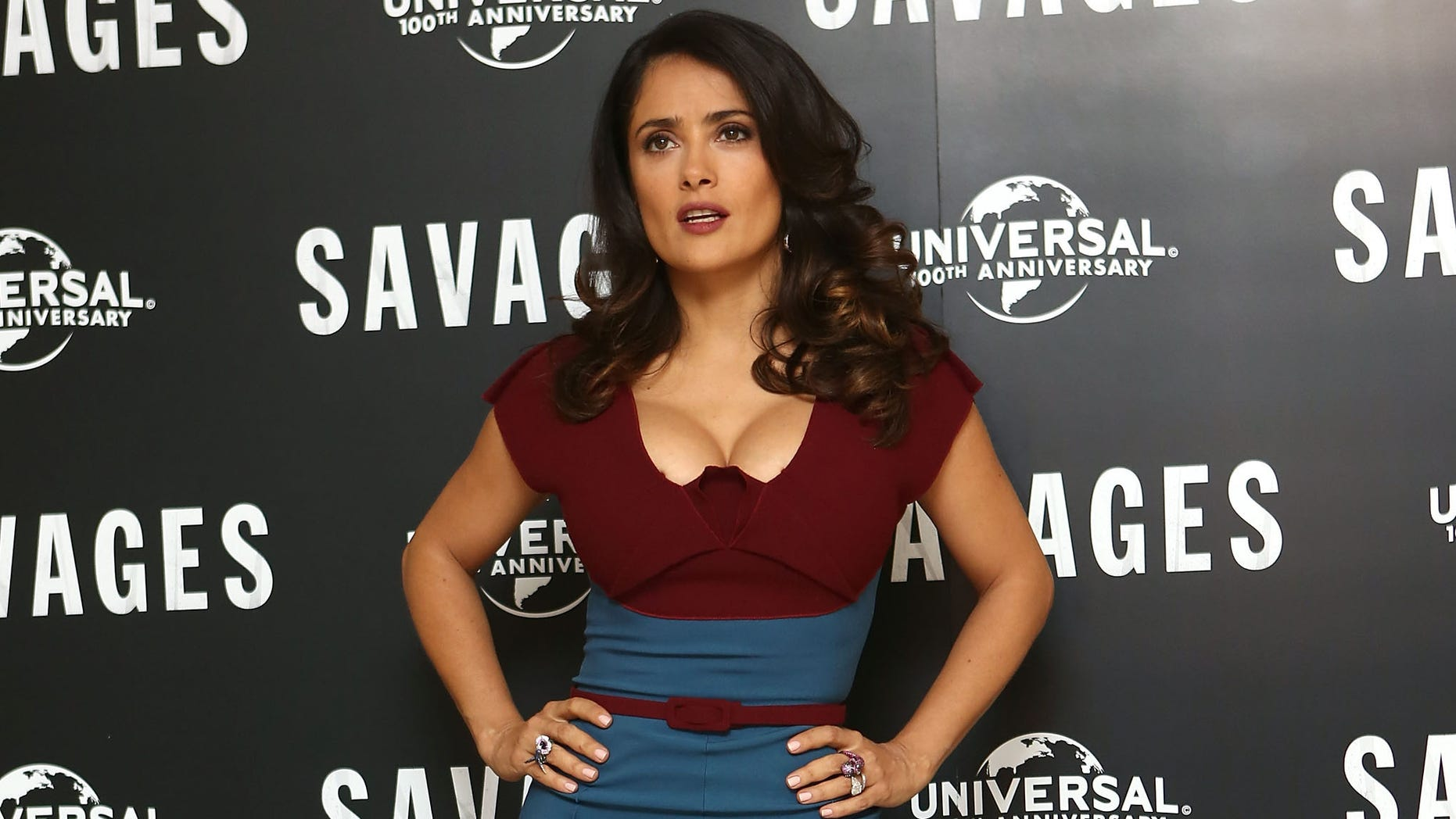 LONDON, ENGLAND - SEPTEMBER 19:  Salma Hayek attends a photocall for new film 'Savages' at The Mandarin Oriental on September 19, 2012 in London, England.  (Photo by Tim Whitby/Getty Images)