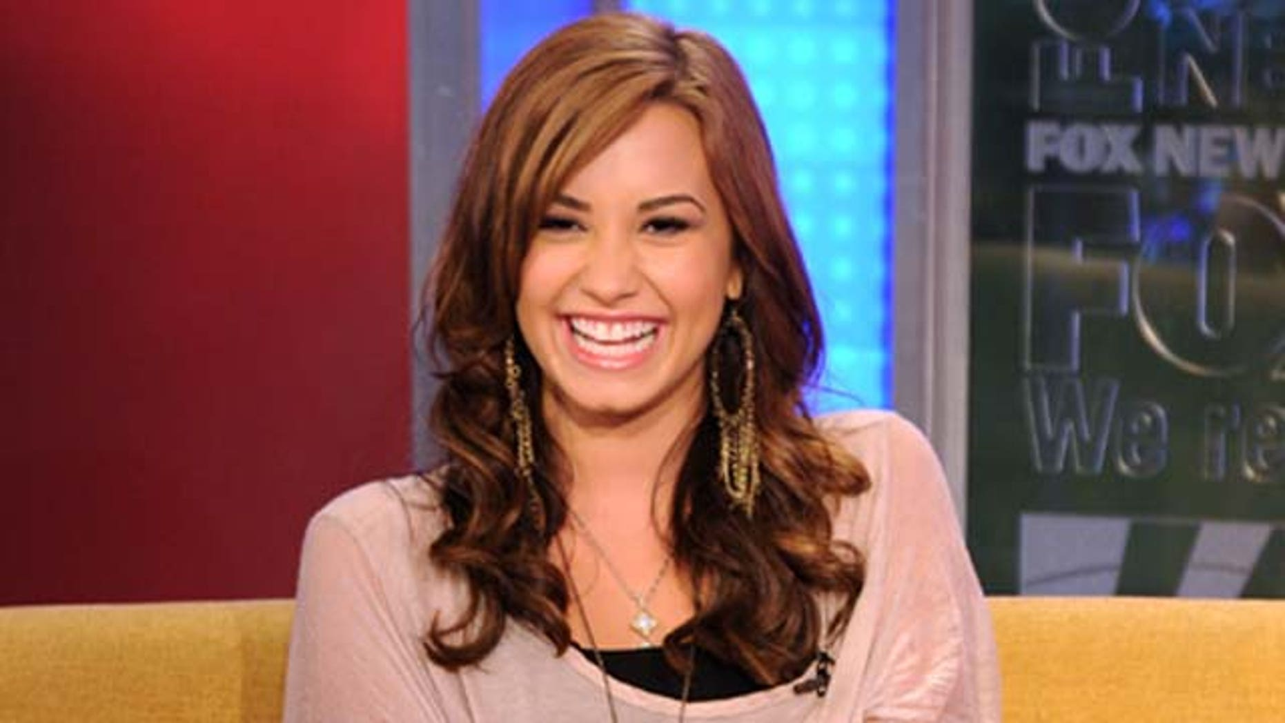 Aug.16, 2011: Singer Demi Lovato visits 'FOX & Friends' at the FOX studios on in New York City.