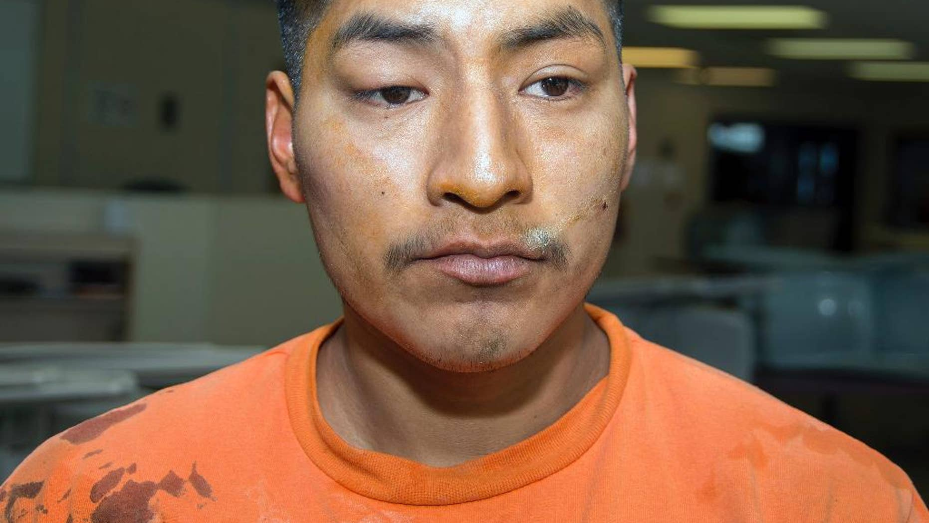 FILE - This Jan. 30, 2014 photo provided by the Arizona Department of Corrections shows inmate Jacob Harvey, accused of attacking a state prison teacher in Florence, Ariz. Harvey, who pleaded guilty to raping a prison teacher at the Eyman state prison, is set for sentencing Monday, Sept. 14, 2015.  (Arizona Department of Corrections via AP, File)