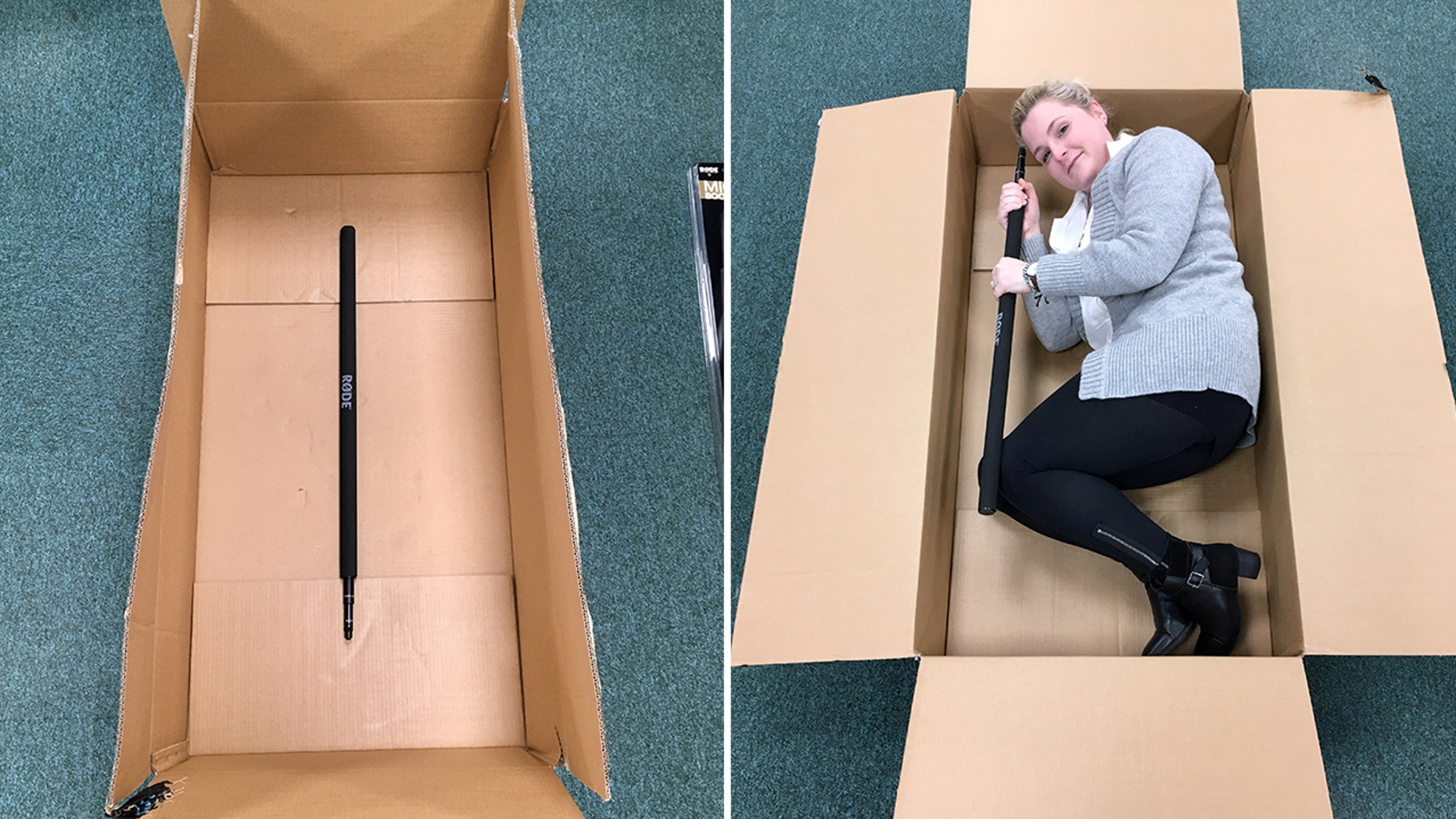 A woman was shocked by the size of box Amazon used for her tiny product.