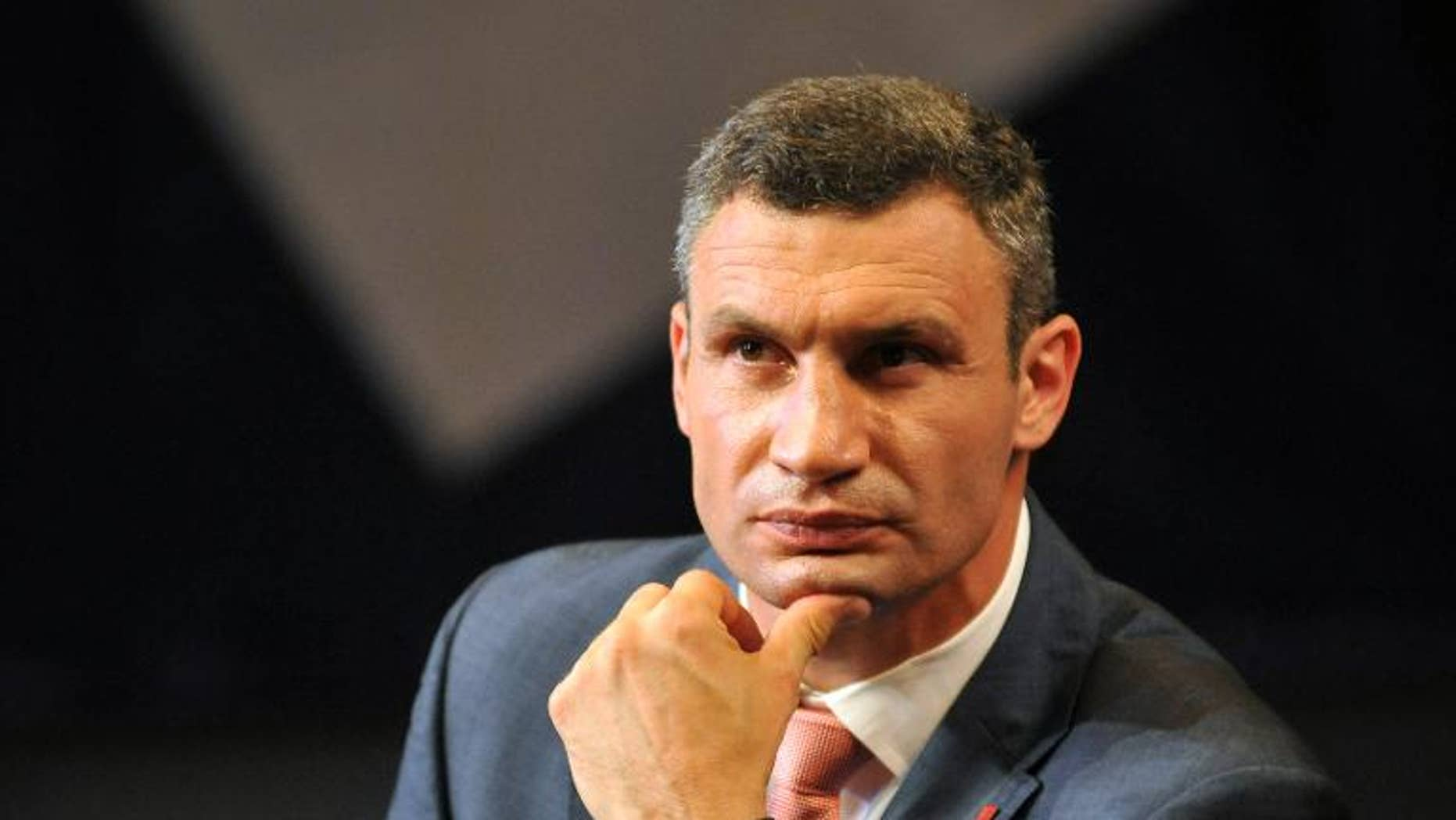 Vitaly Klitschko, leader of the Ukrainian opposition UDAR (Punch) party in Lviv, Ukraine on August 20, 2013.