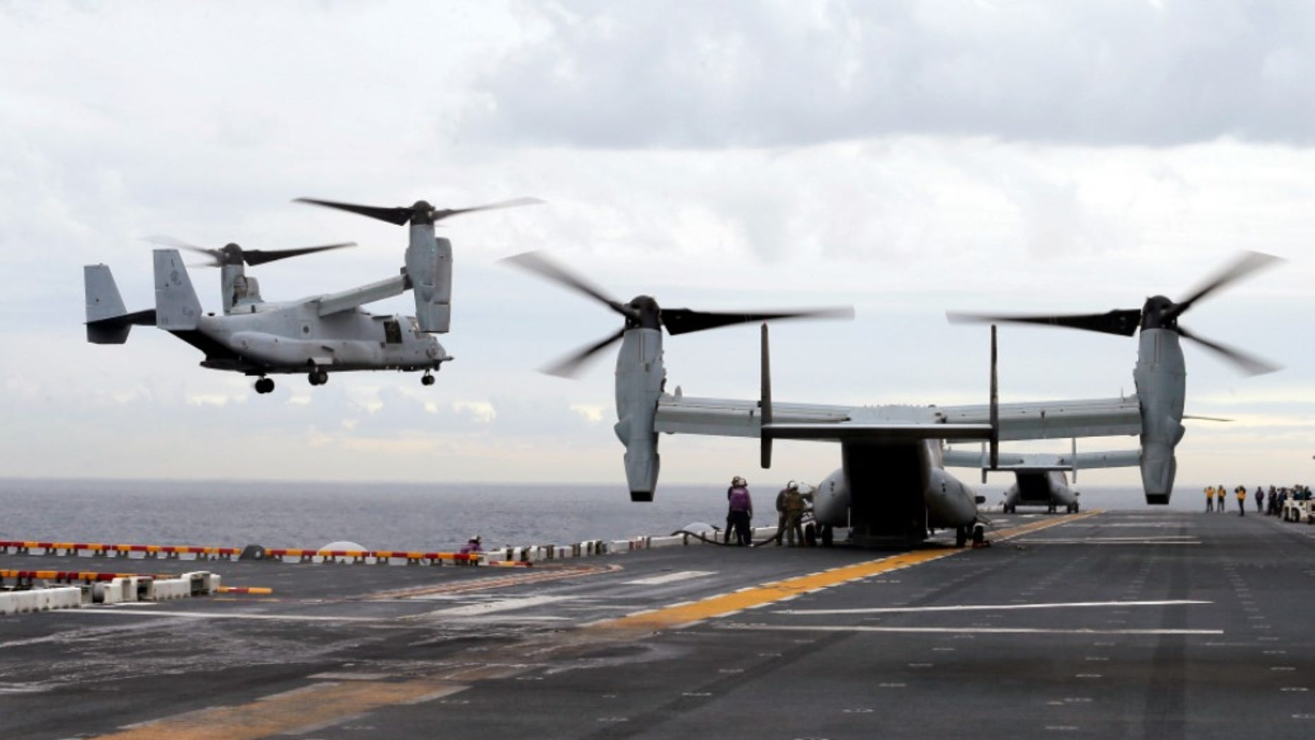 A MV-22 Osprey that had launched from the USS Bonhomme was conducting regularly scheduled operations when it crashed into the water off Australia's east coast, Saturday, Aug. 5.