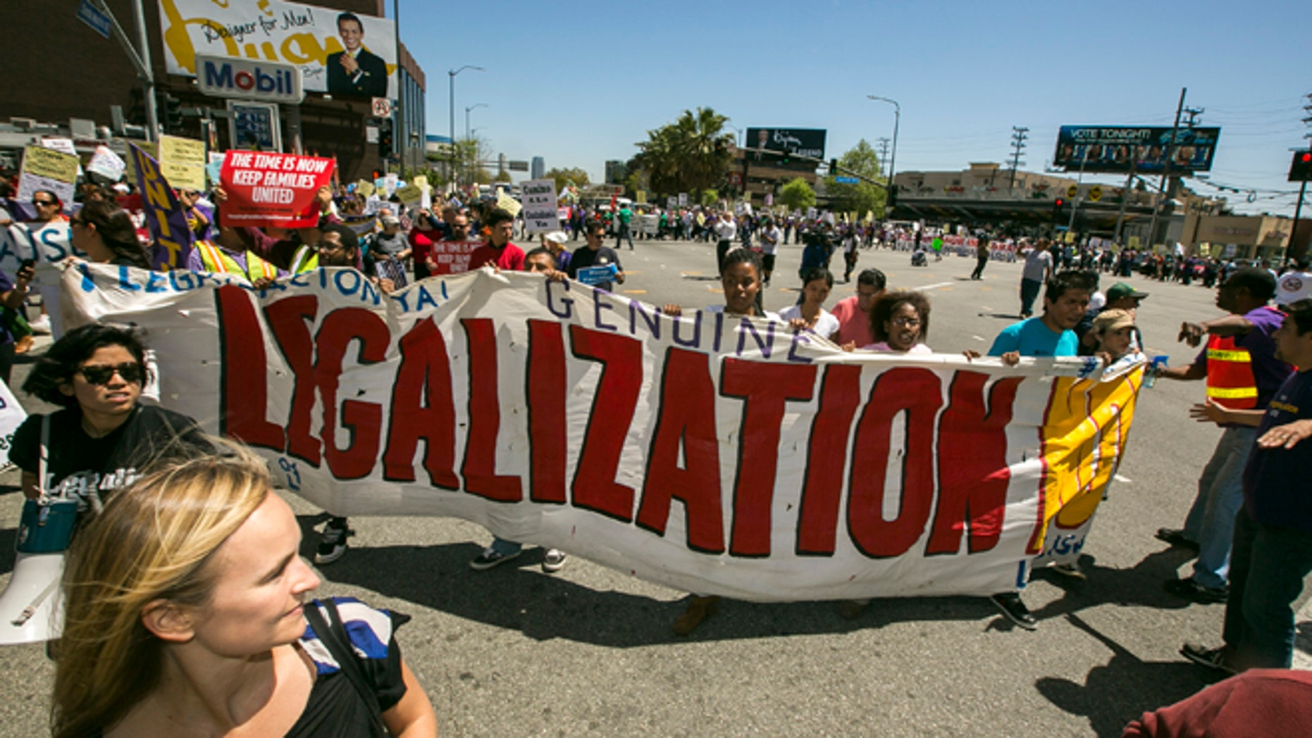 April 10, 2013: Activists rally for immigration reform in Los Angeles.