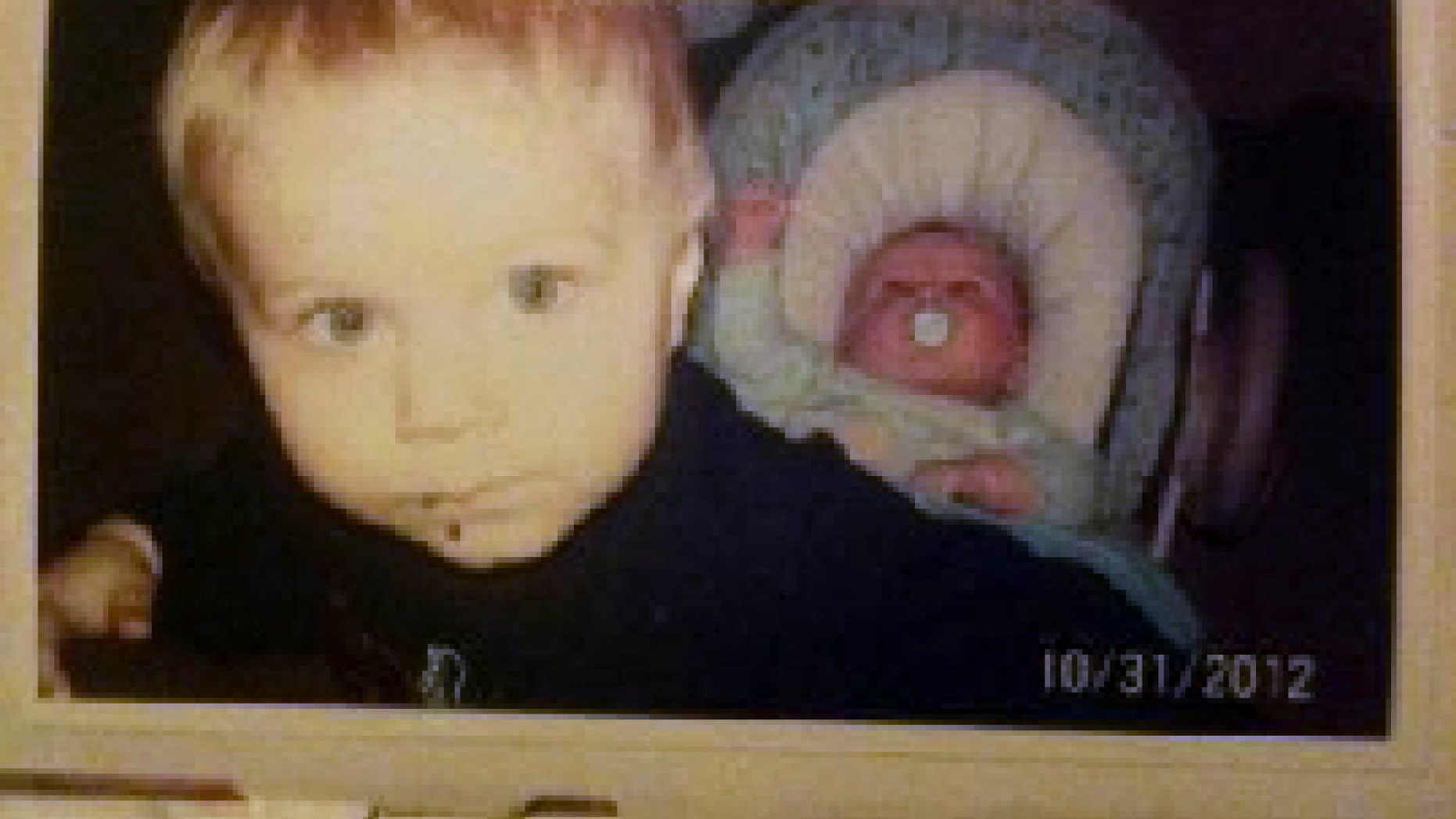 This photo released by the Connecticut State Police during an Amber Alert Tuesday, Feb. 26, 2013, shows Alton Dennison, 6, left, and Ashton Denison, 2 months old, right, who were taken from their daycare by their grandmother Tuesday afternoon. State police said the bodies of Ashton and Alton Perry and their grandmother, Debra Denison, 47, were found Tuesday night in Preston, Conn. (AP Photo/Connecticut State Police)