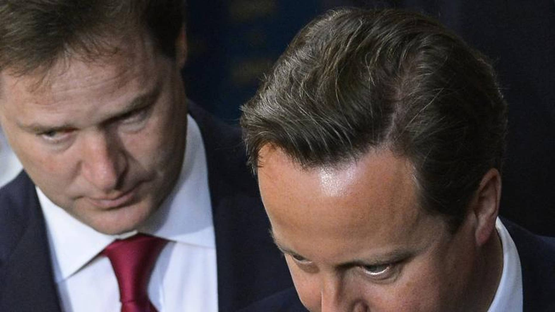 Downing Street denied Saturday claims that David Cameron and Nick Clegg, pictured in May, have held talks about forming another Conservative-Liberal Democrat coalition after the next general election in 2015.