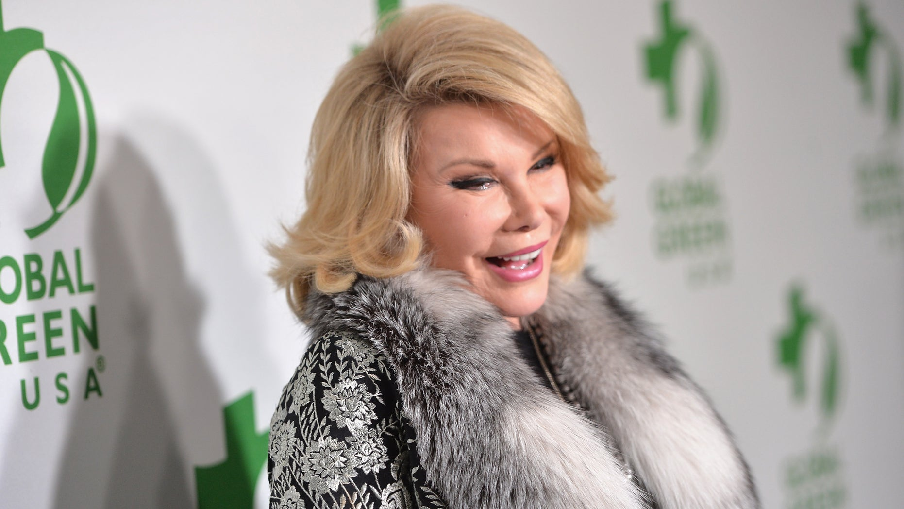 Joan Rivers attends Global Green USA's 11th Pre-Oscar party on February 26, 2014 in Hollywood, California.