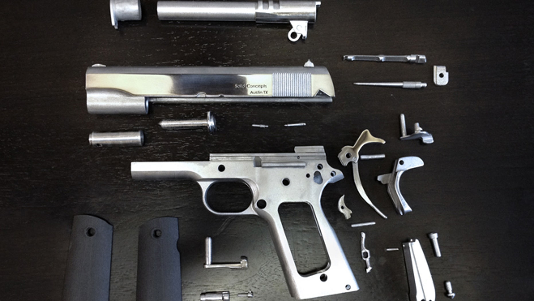 Components for the first ever working 3D Printed metal gun.