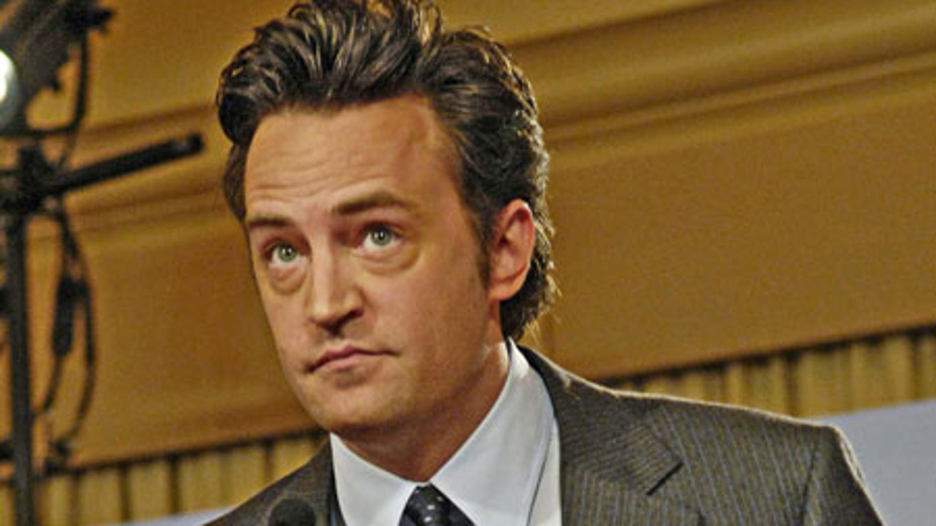 Matthew Perry's latest role is playing an old Zac Efron.